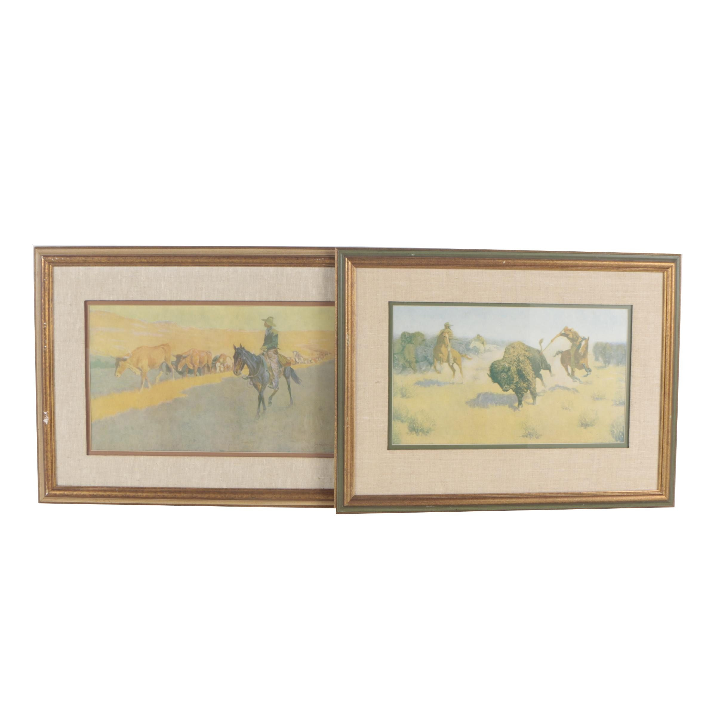 After Frederic Remington Offset Lithographs
