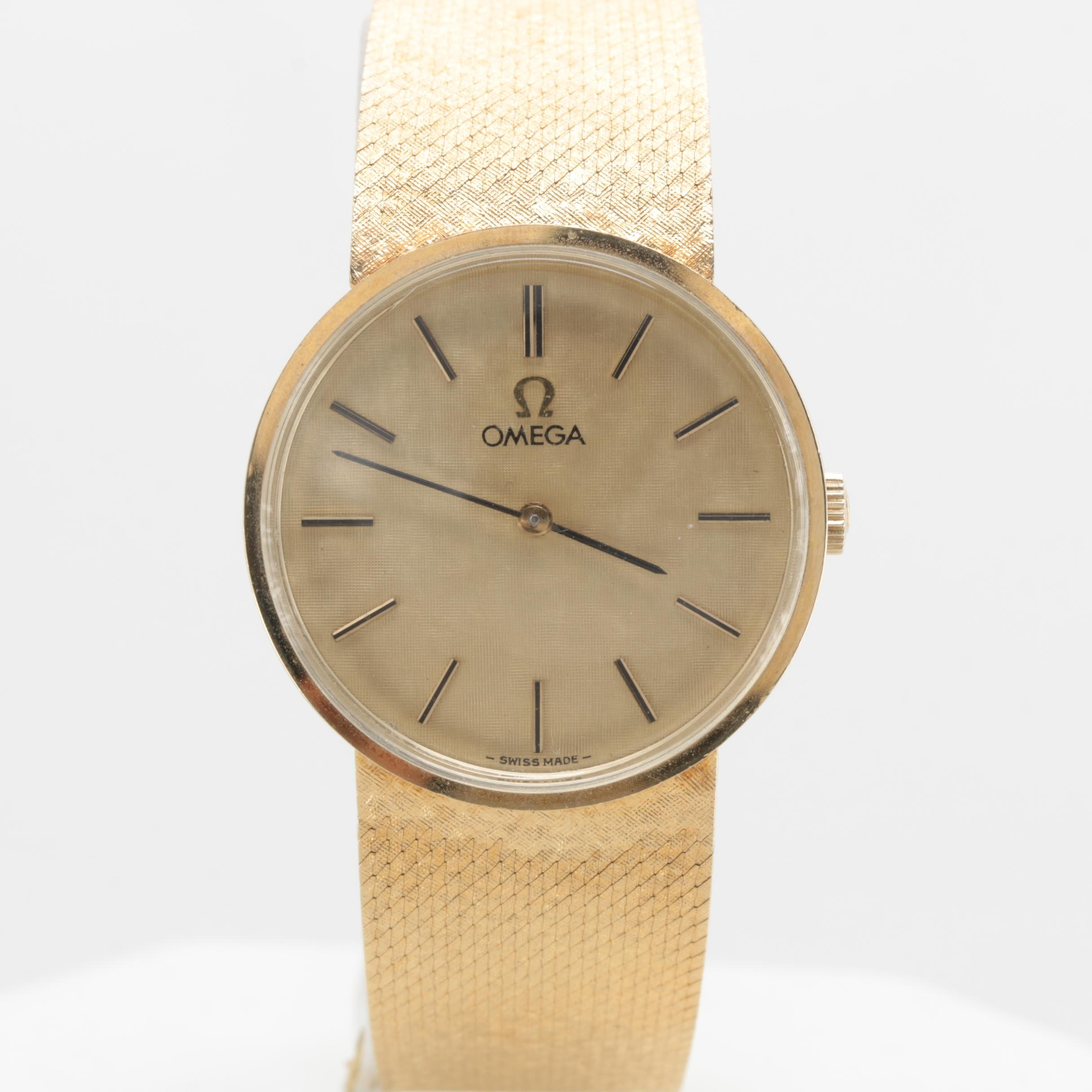 Omega 14K Yellow Gold Manual Winding Wristwatch