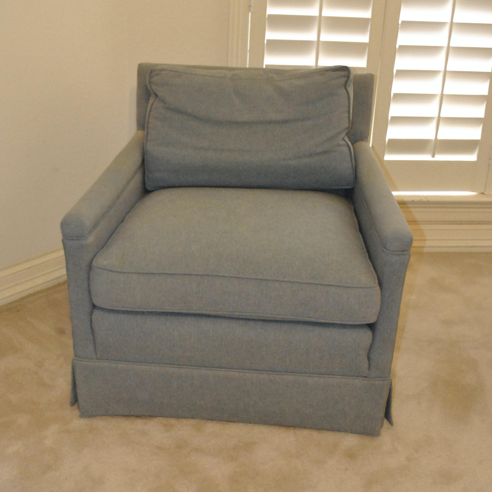 Blue Upholstered Armchair