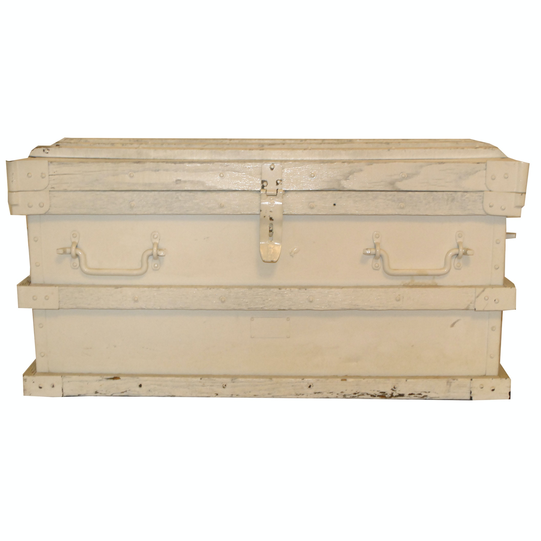 Antique Tool Chest with Later White Paint