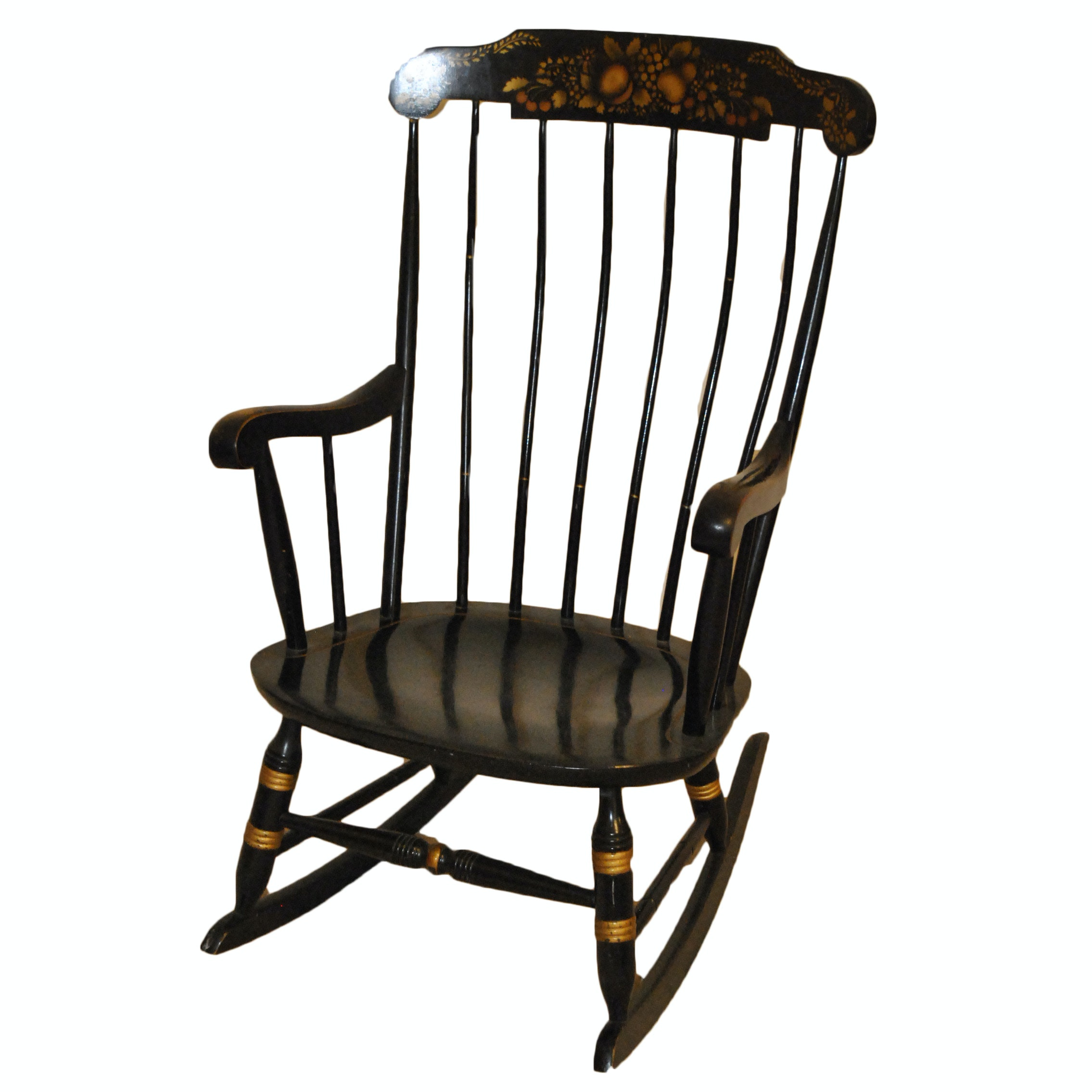 Vintage Hitchcock Style Painted Rocking Chair