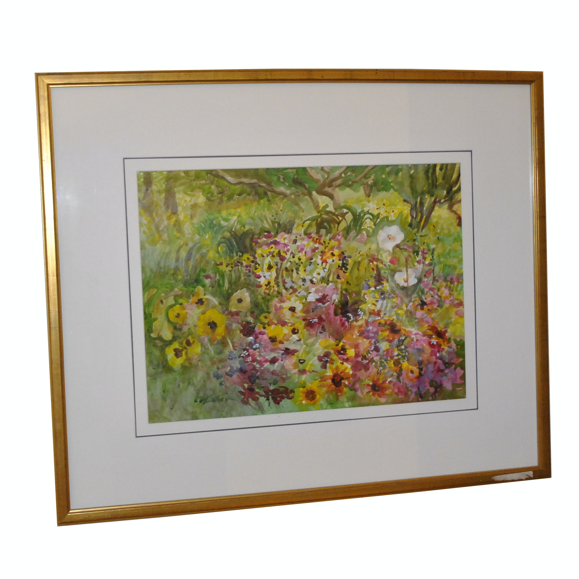 C. D. Koutnik Floral Watercolor Painting