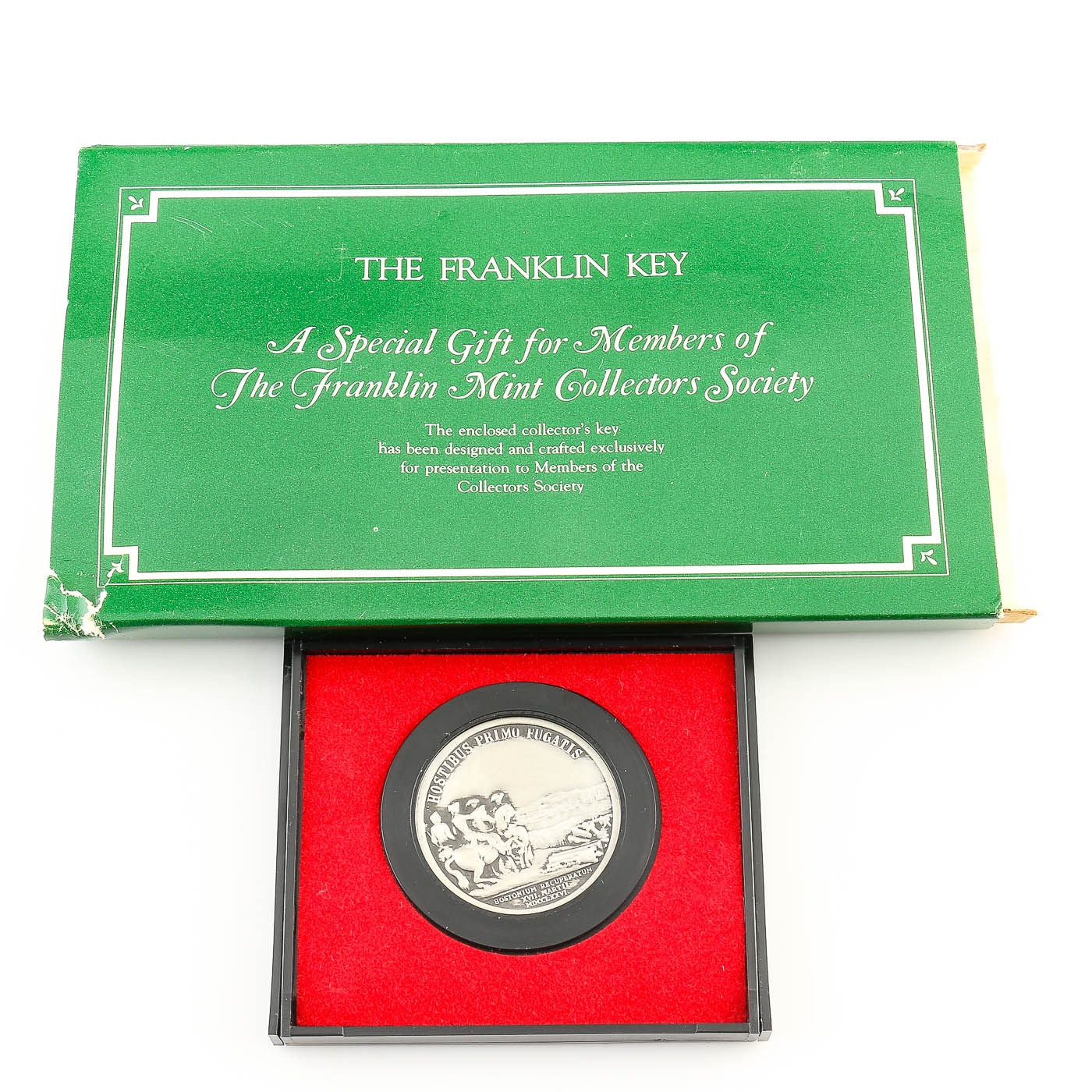 Franklin Mint Collectors Society Key and a Washington Before Boston Medal