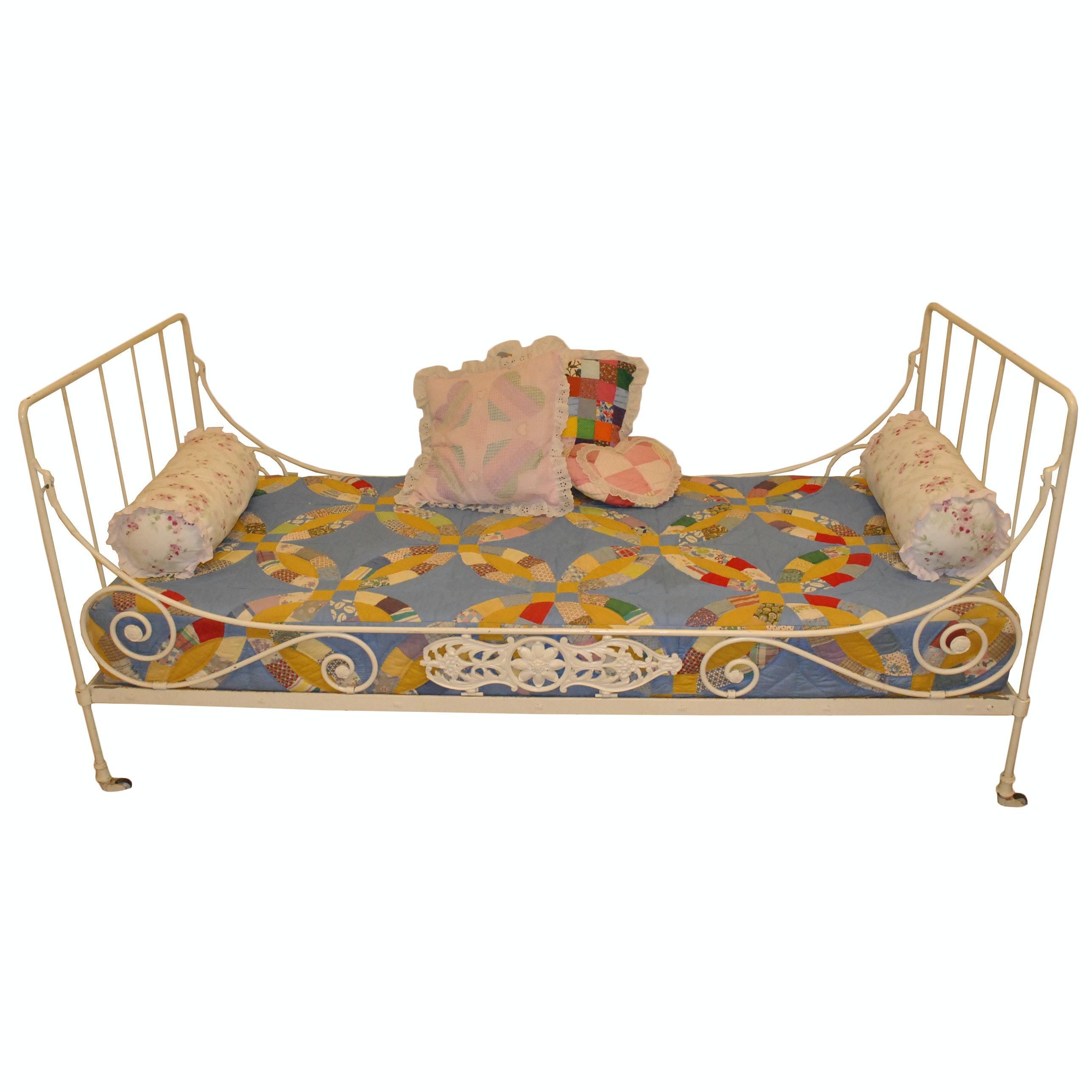 Painted Metal Twin Size Bed Frame