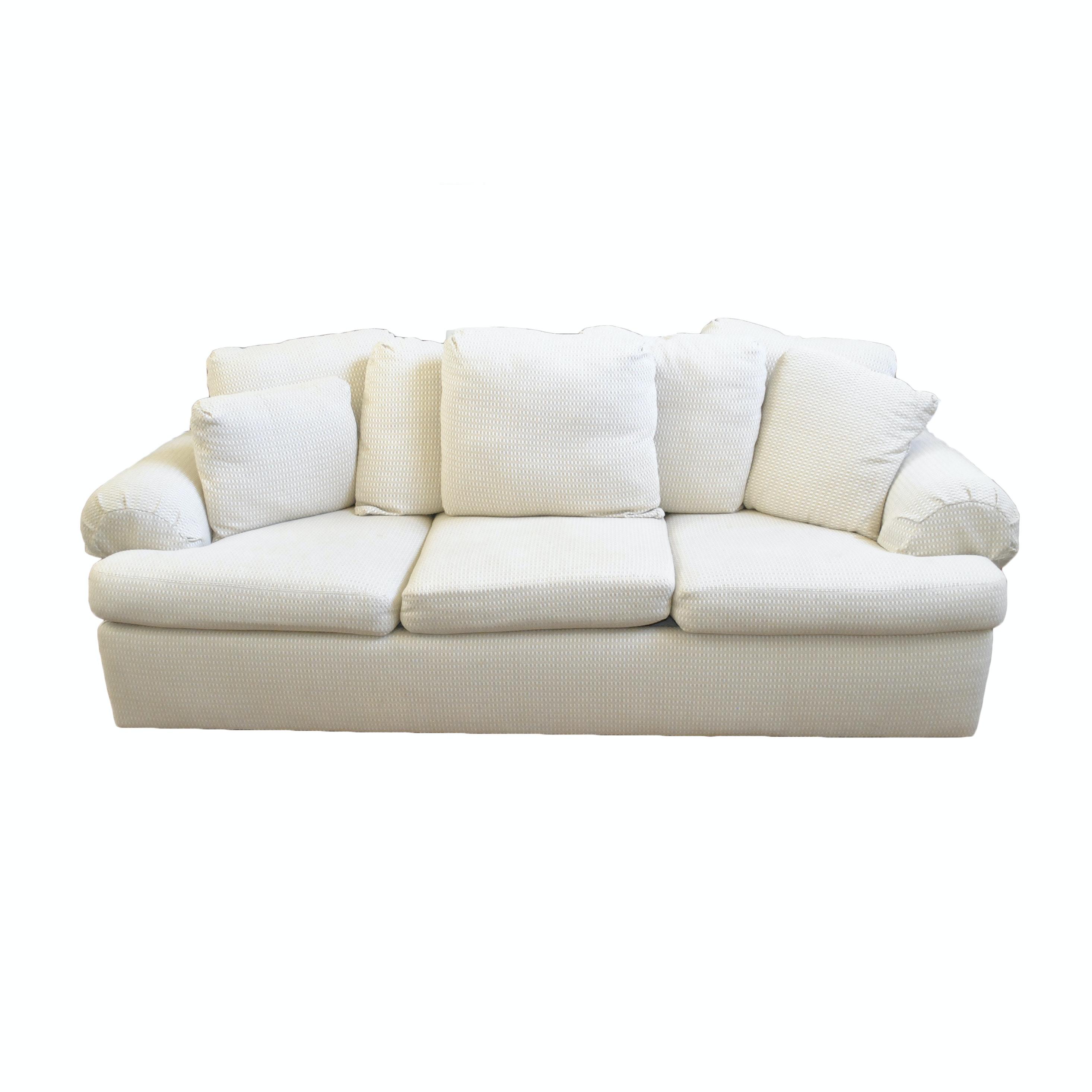 White Upholstered Sofa by Drexel