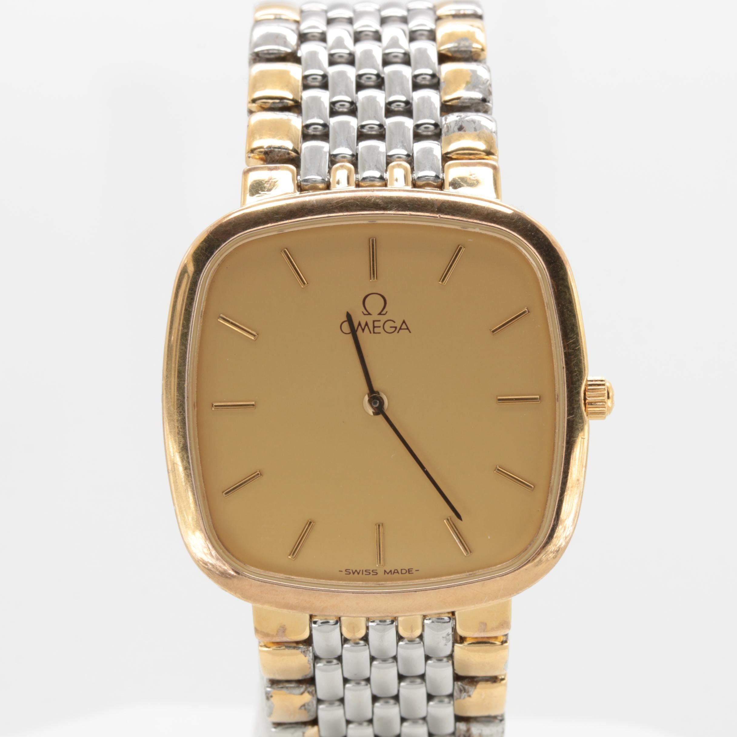 Omega De Ville Classic Stainless Steel and Gold Plated Wristwatch