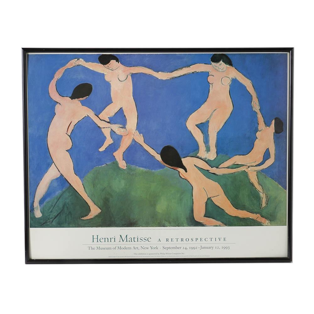 After Henri Matisse Offset Lithograph Exhibition Poster