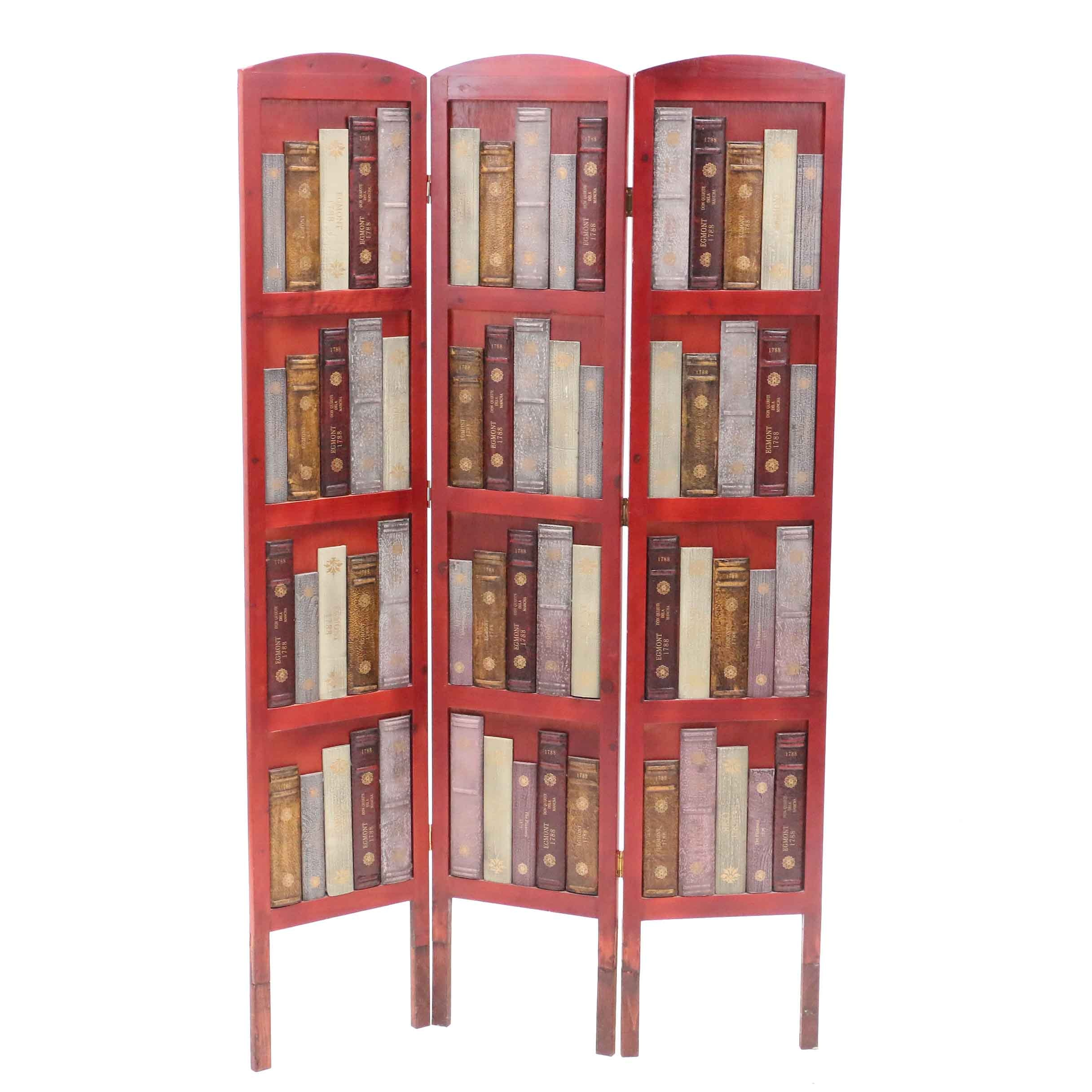 Book Motif Room Screen