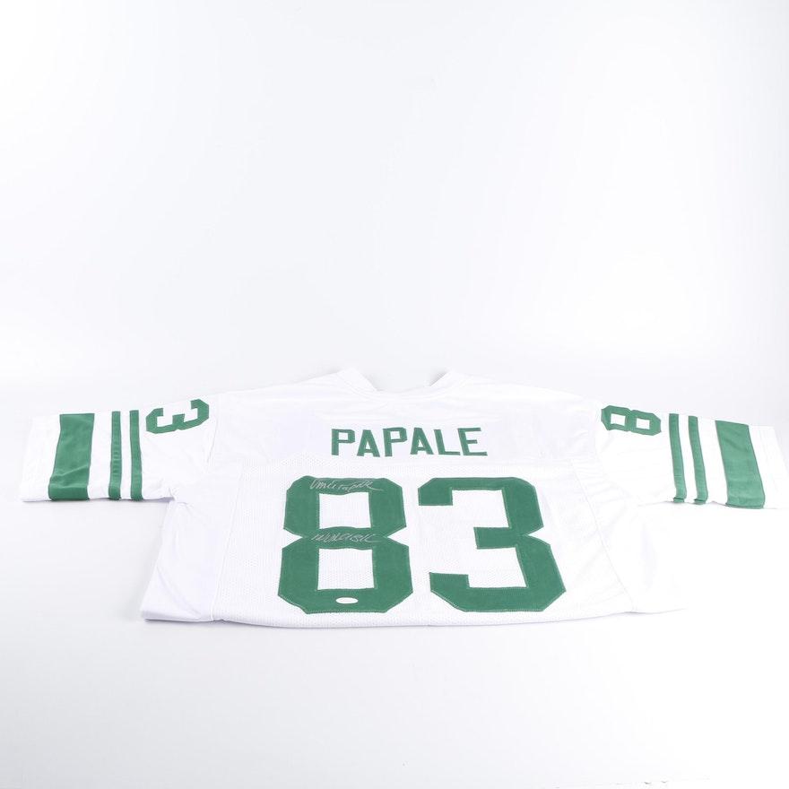 833d4e1599f Vince Papale Autographed Philadelphia Eagles Football Jersey - JSA COA ...