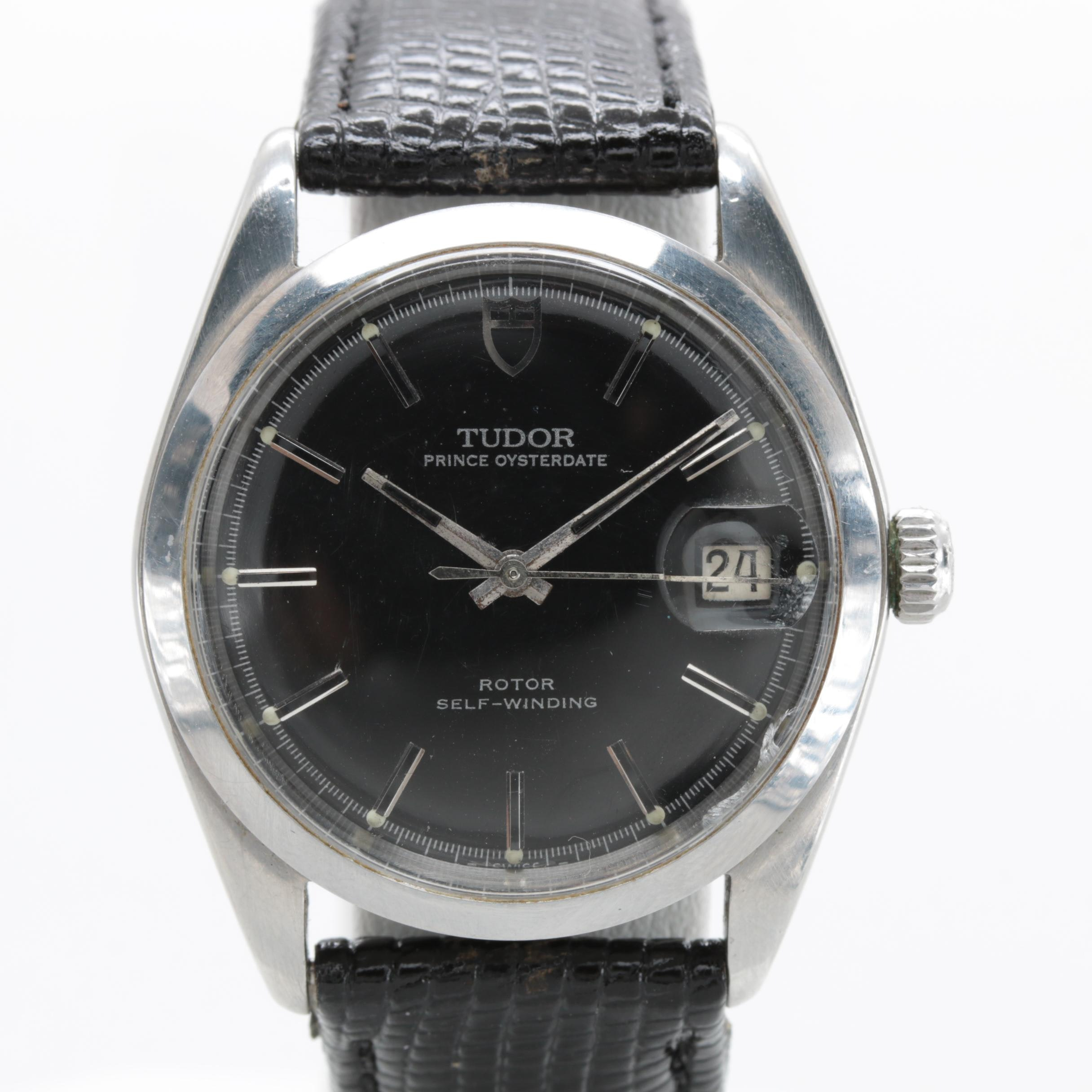 Vintage Tudor Prince Oysterdate Stainless Steel Automatic Wristwatch