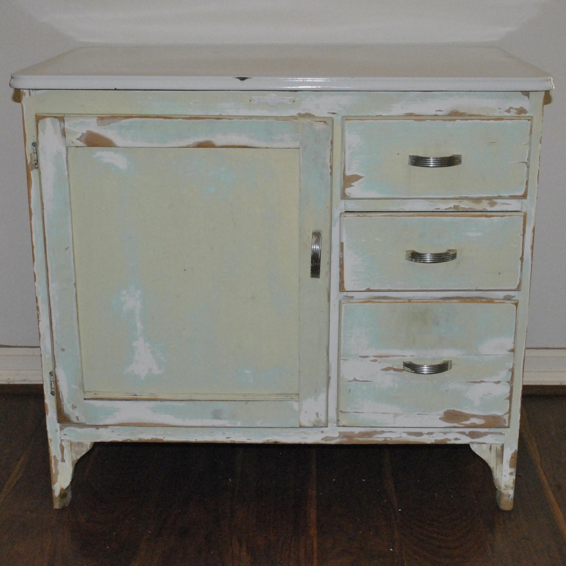 Vintage Painted Cabinet