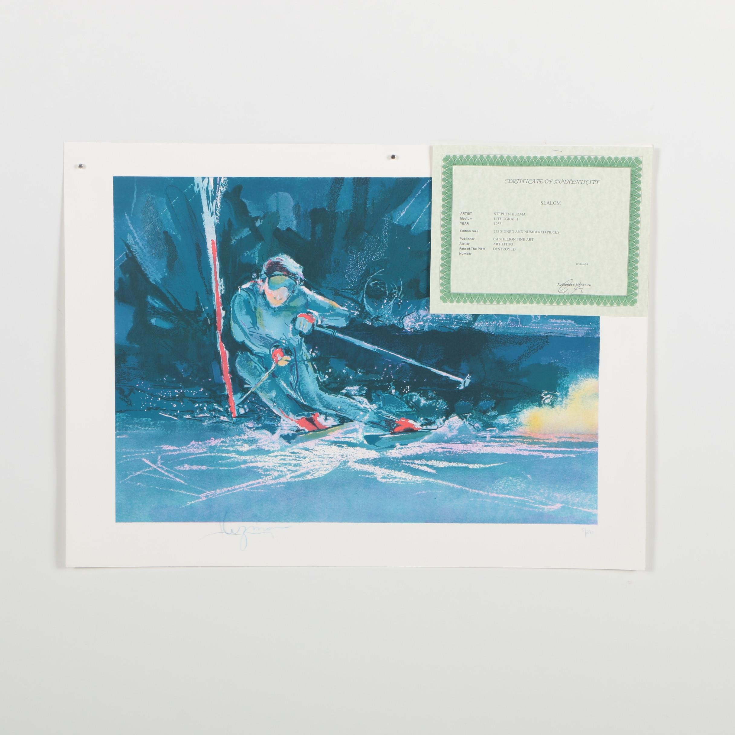 "Stephen Kuzma Limited Edition Lithograph ""Slalom"""