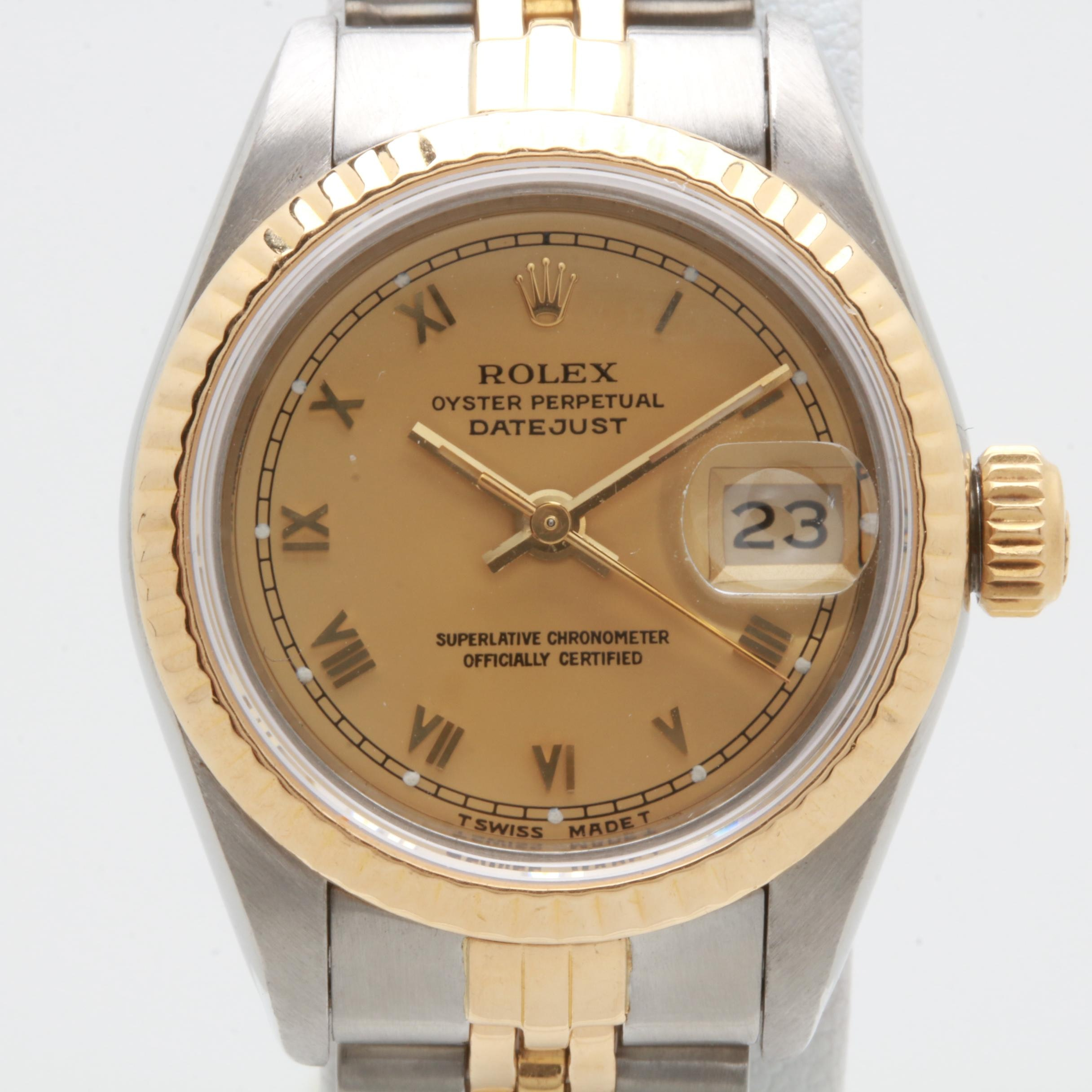 Rolex Datejust 18K Yellow Gold and Stainless Steel Automatic Wristwatch