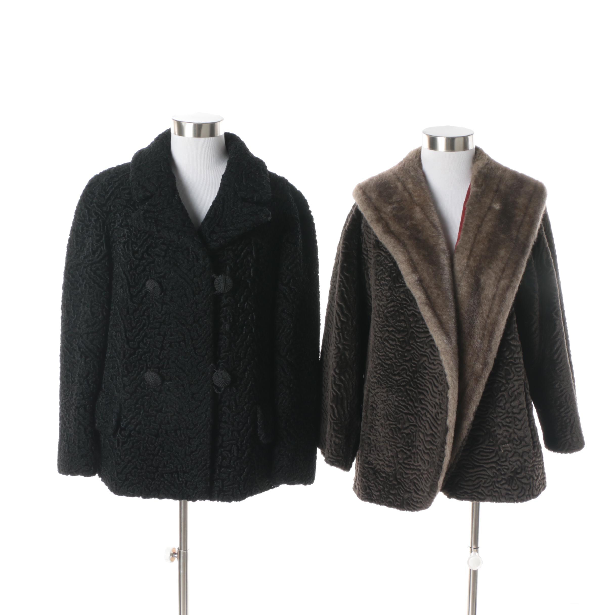 Women's Vintage Coats Including a Borré by Fairmoor Faux Fur Coat
