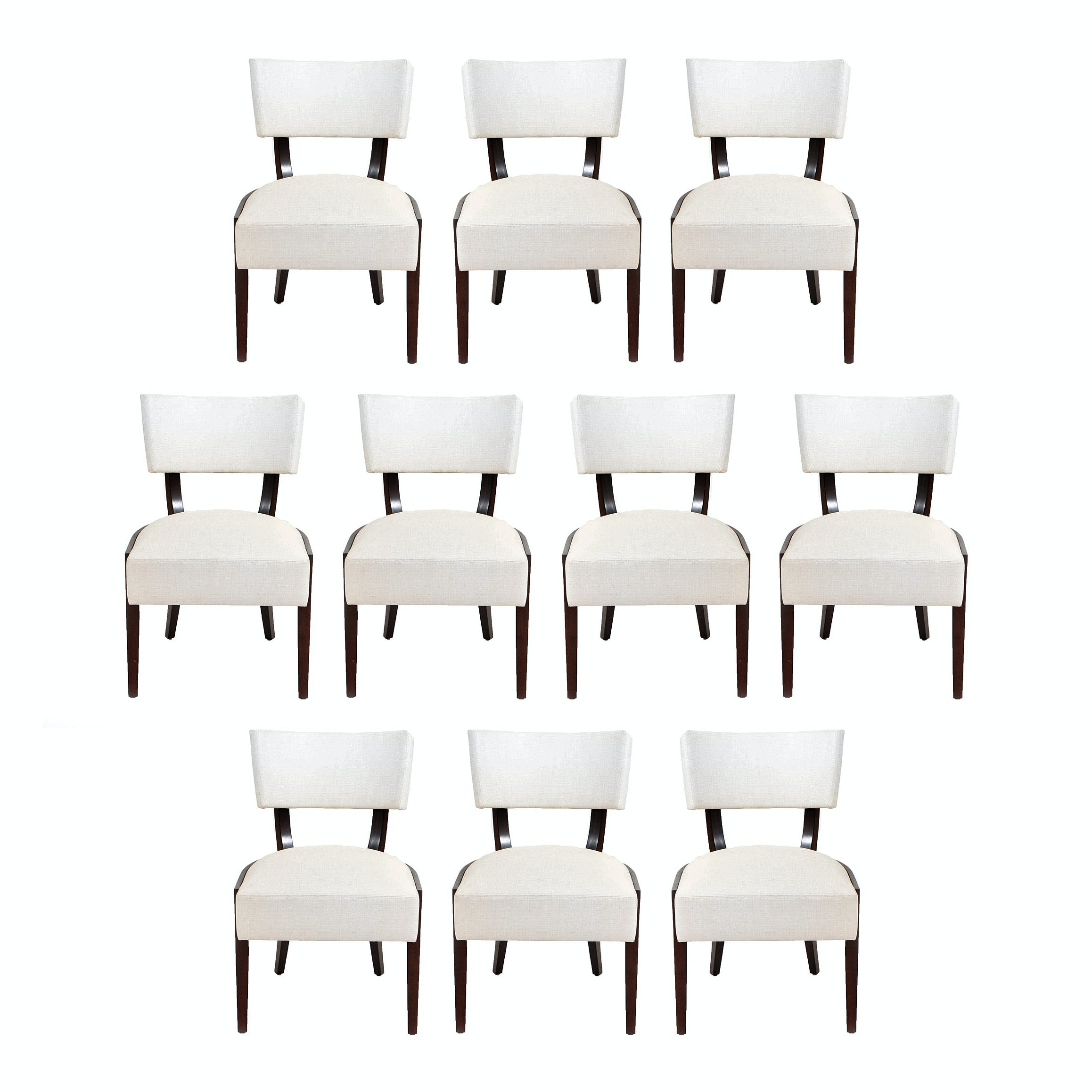 "Troscan ""Danta"" Dining Chairs in Custom Upholstery"