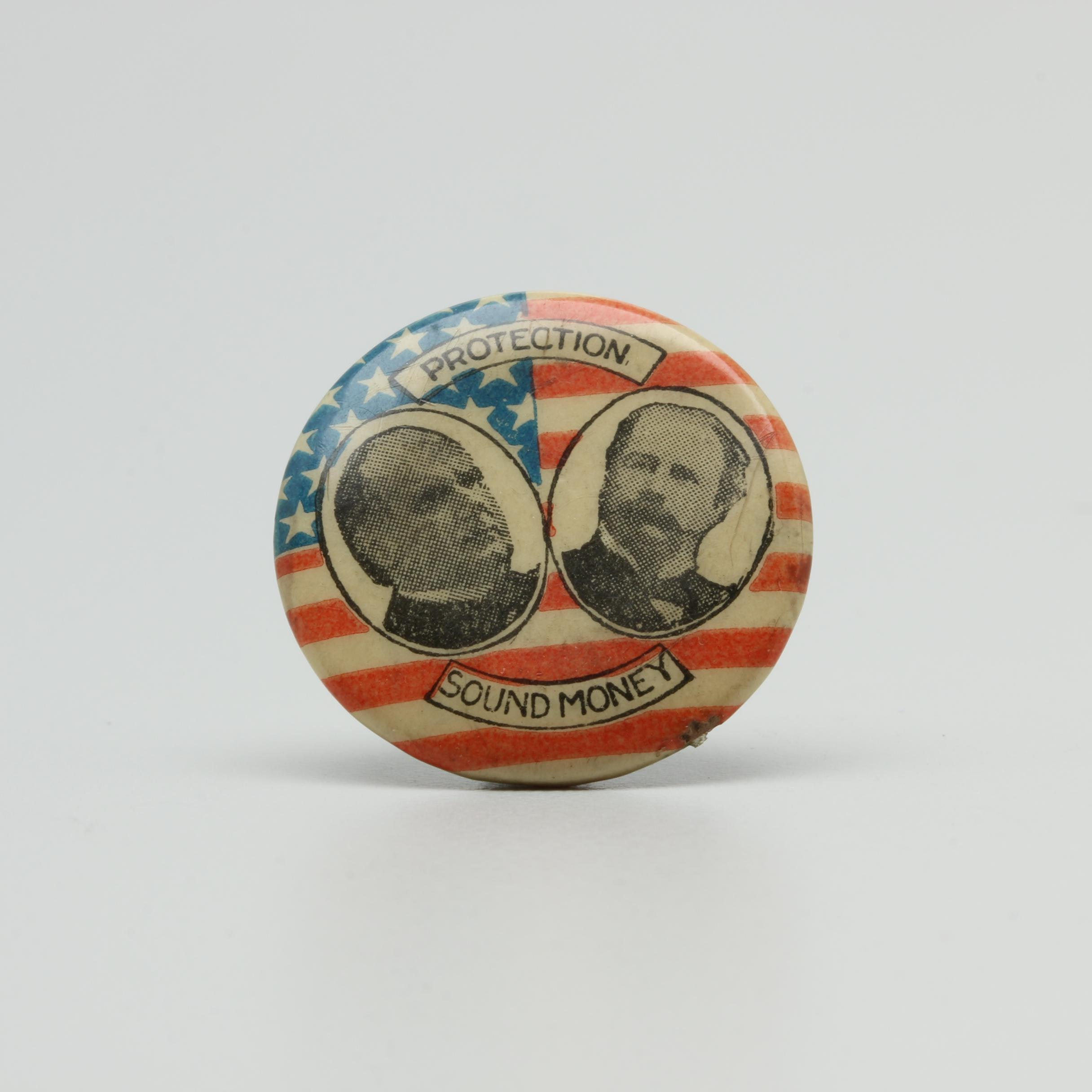 Election of 1896 William McKinley Political Pin