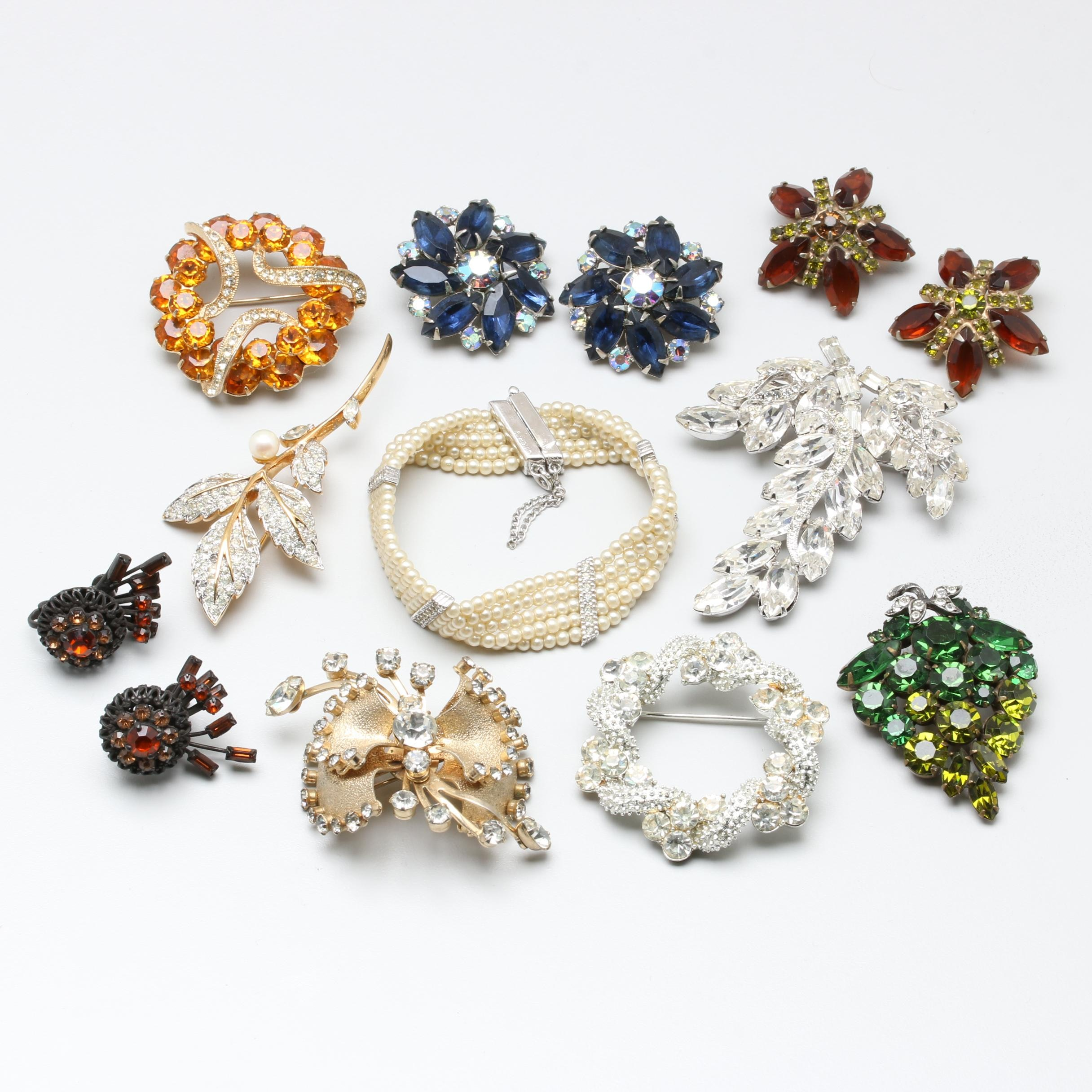 Vintage Jewelry Featuring Coro, Lisner, Weiss, and Kramer