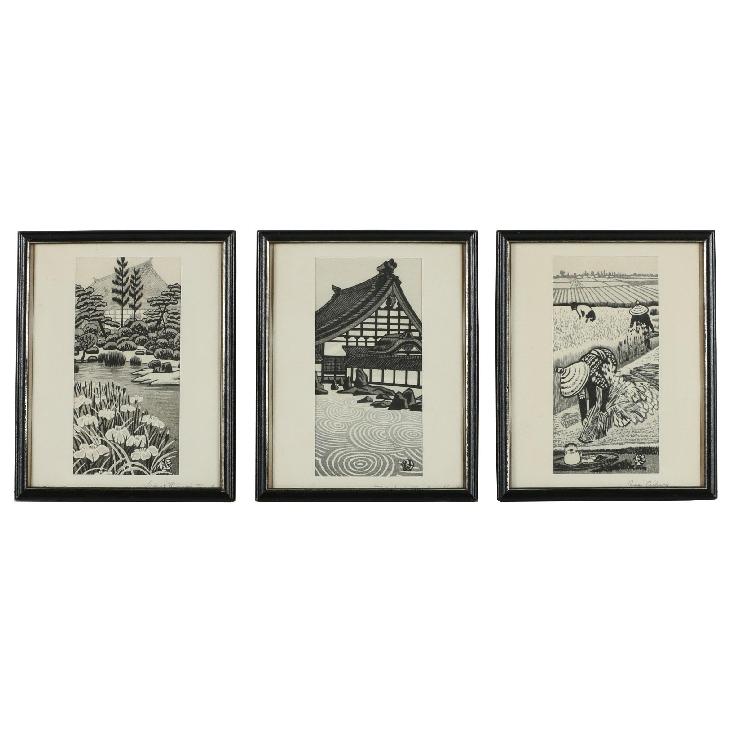 Gihachiro Okuyama Woodblocks