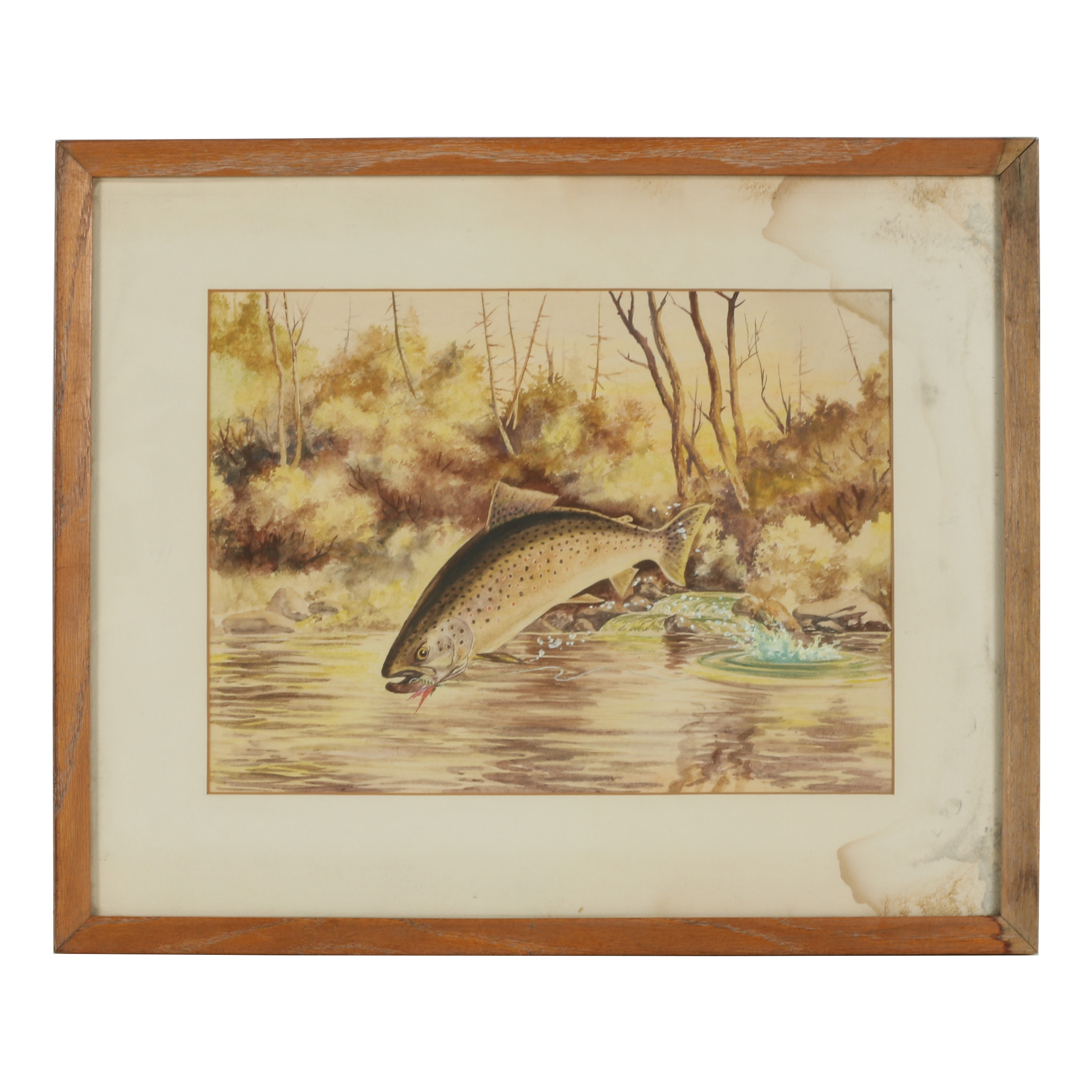 Mid 20th Century Watercolor Painting