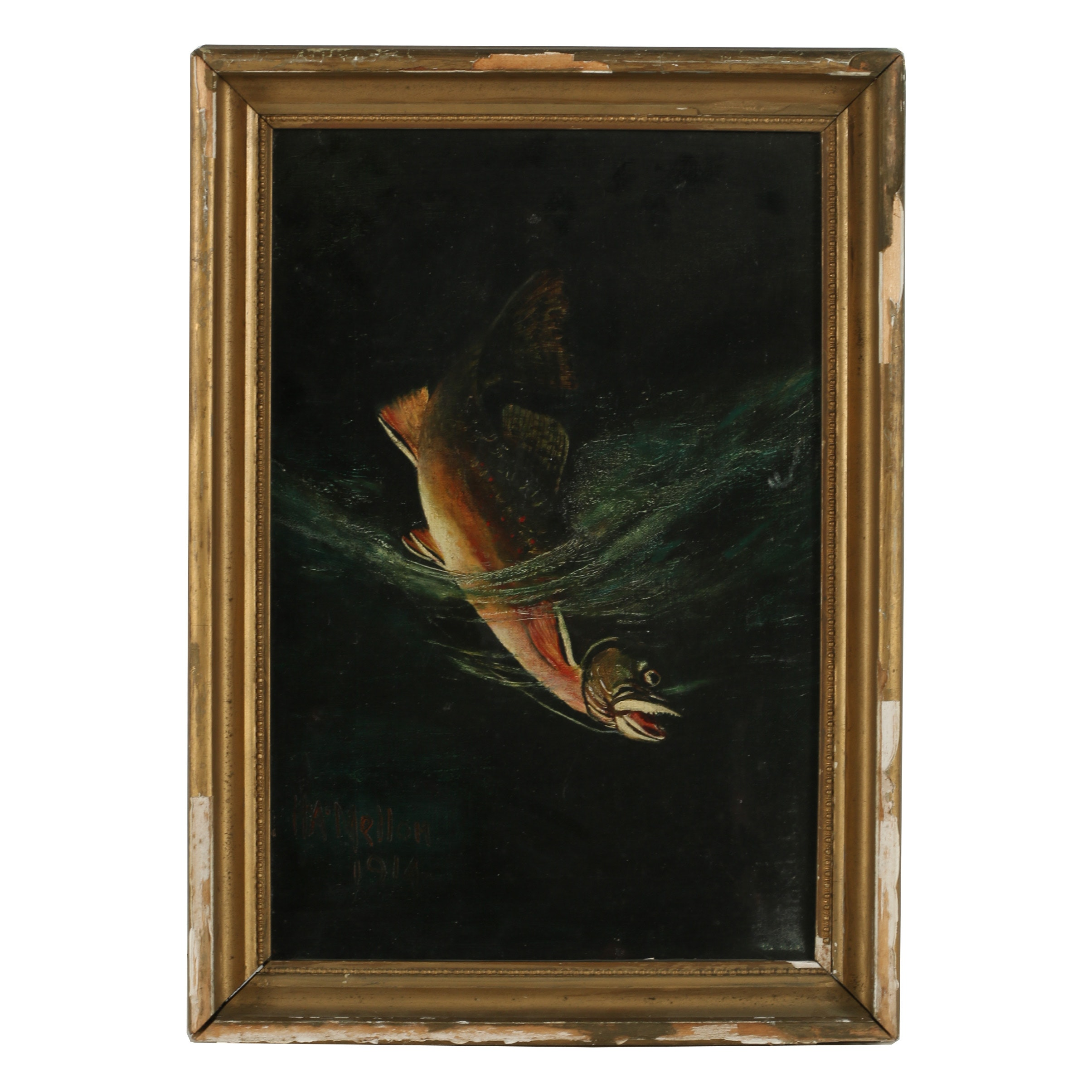 H. A. Mellom Oil Painting