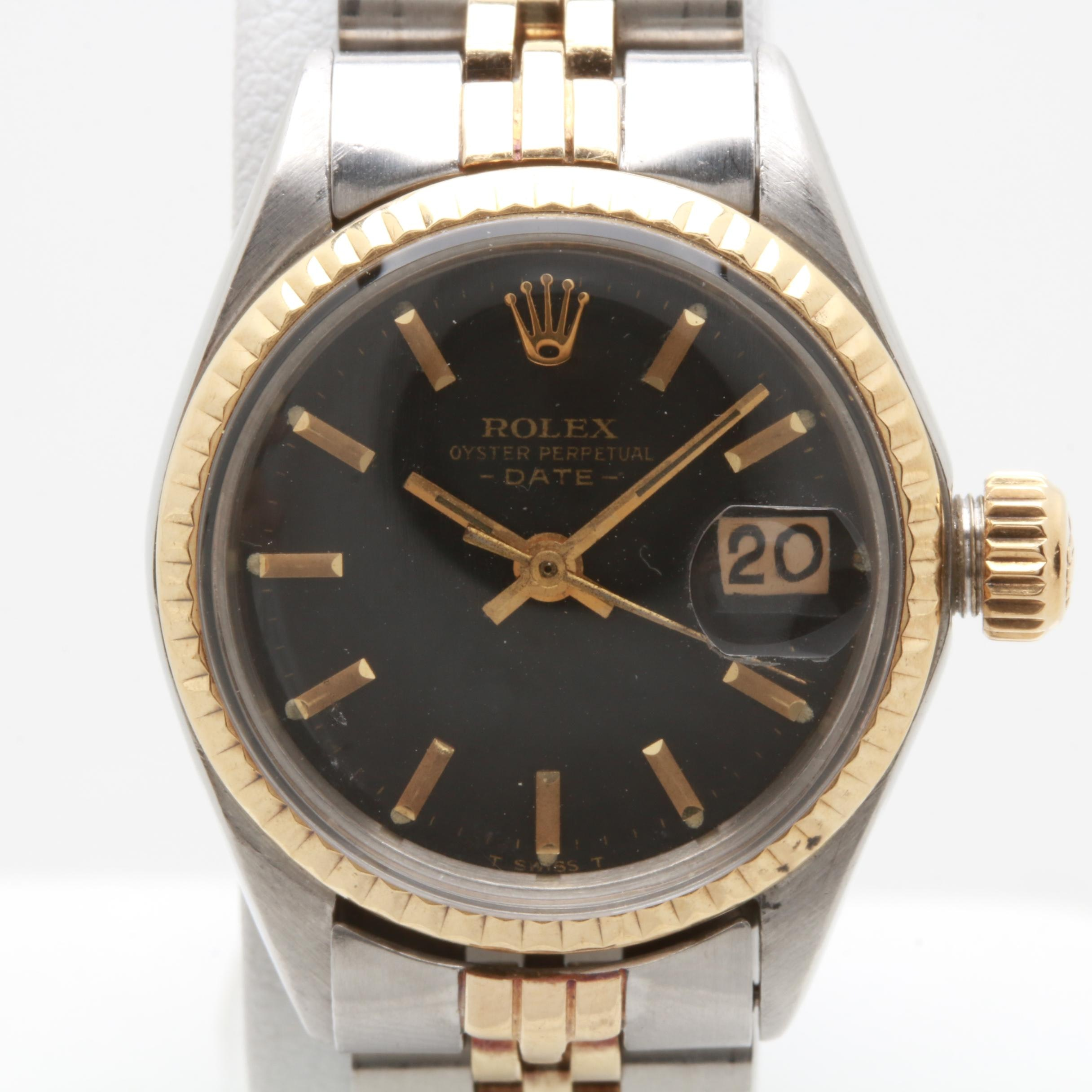 Circa 1971 Rolex Stainless Steel and 14K Yellow Gold Wristwatch
