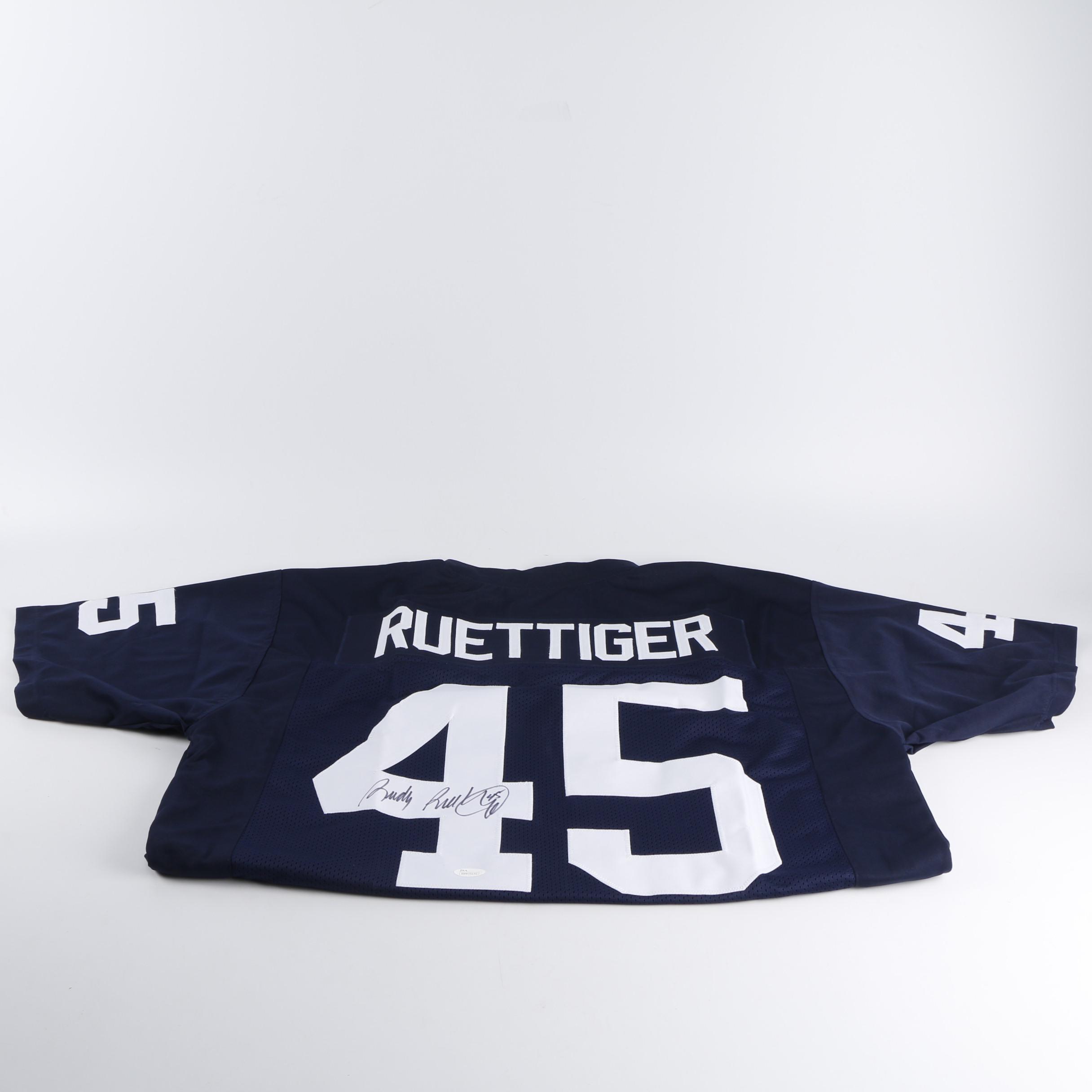 Rudy Ruettiger Autographed Notre Dame Jersey - JSA COA