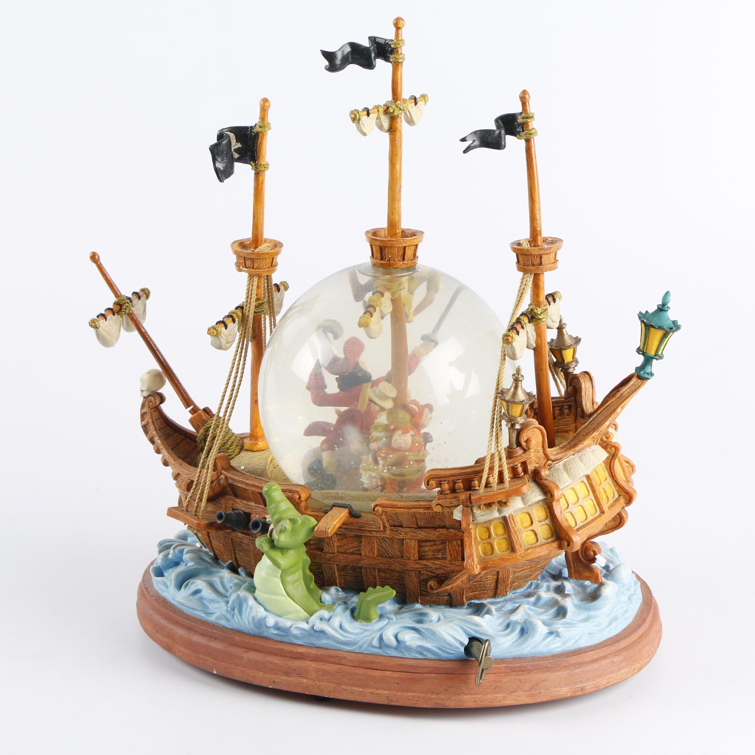 """Disney Peter Pan """"You Can Fly"""" Musical Snow Globe"""