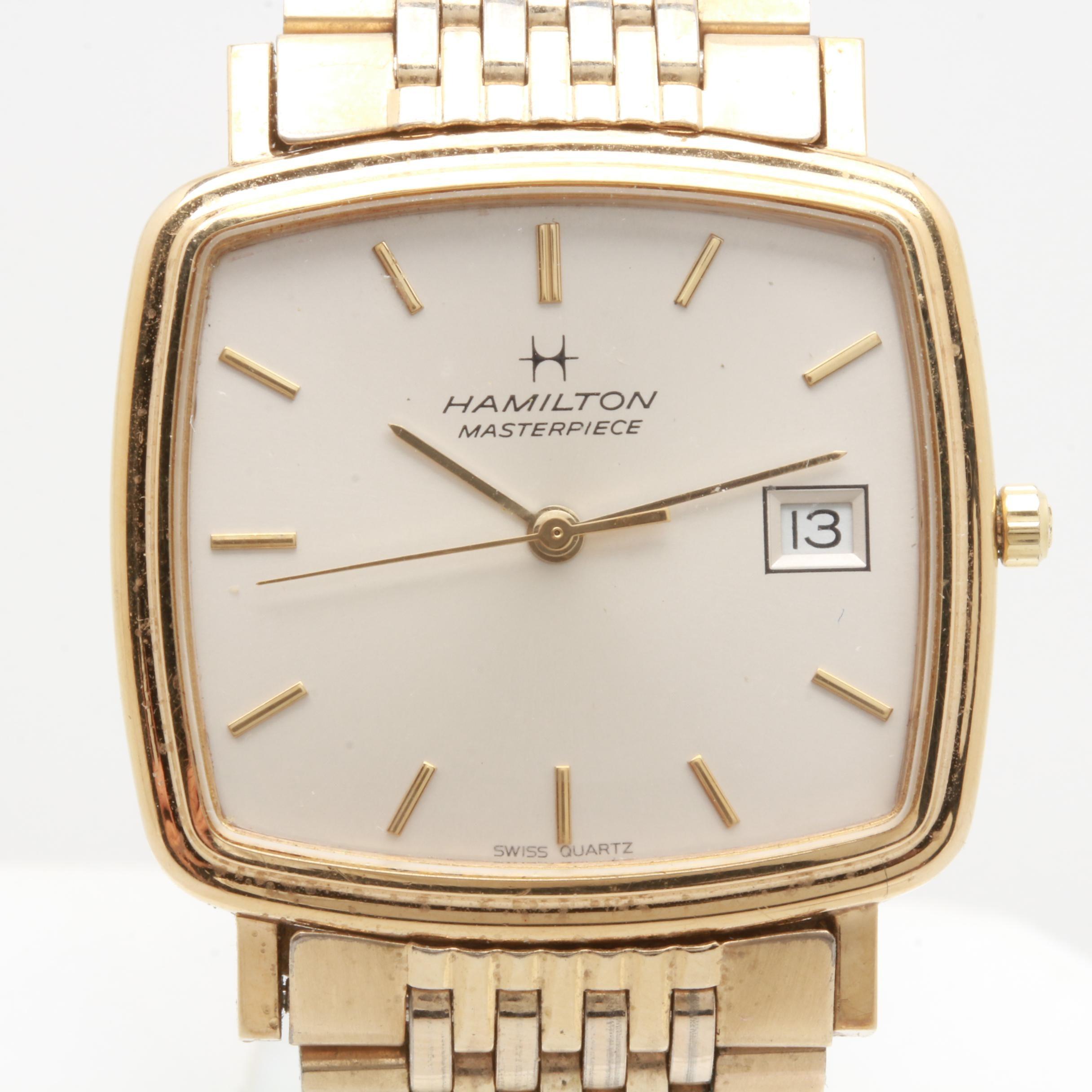 """Hamilton """"Masterpiece"""" Swiss Quartz Wristwatch"""