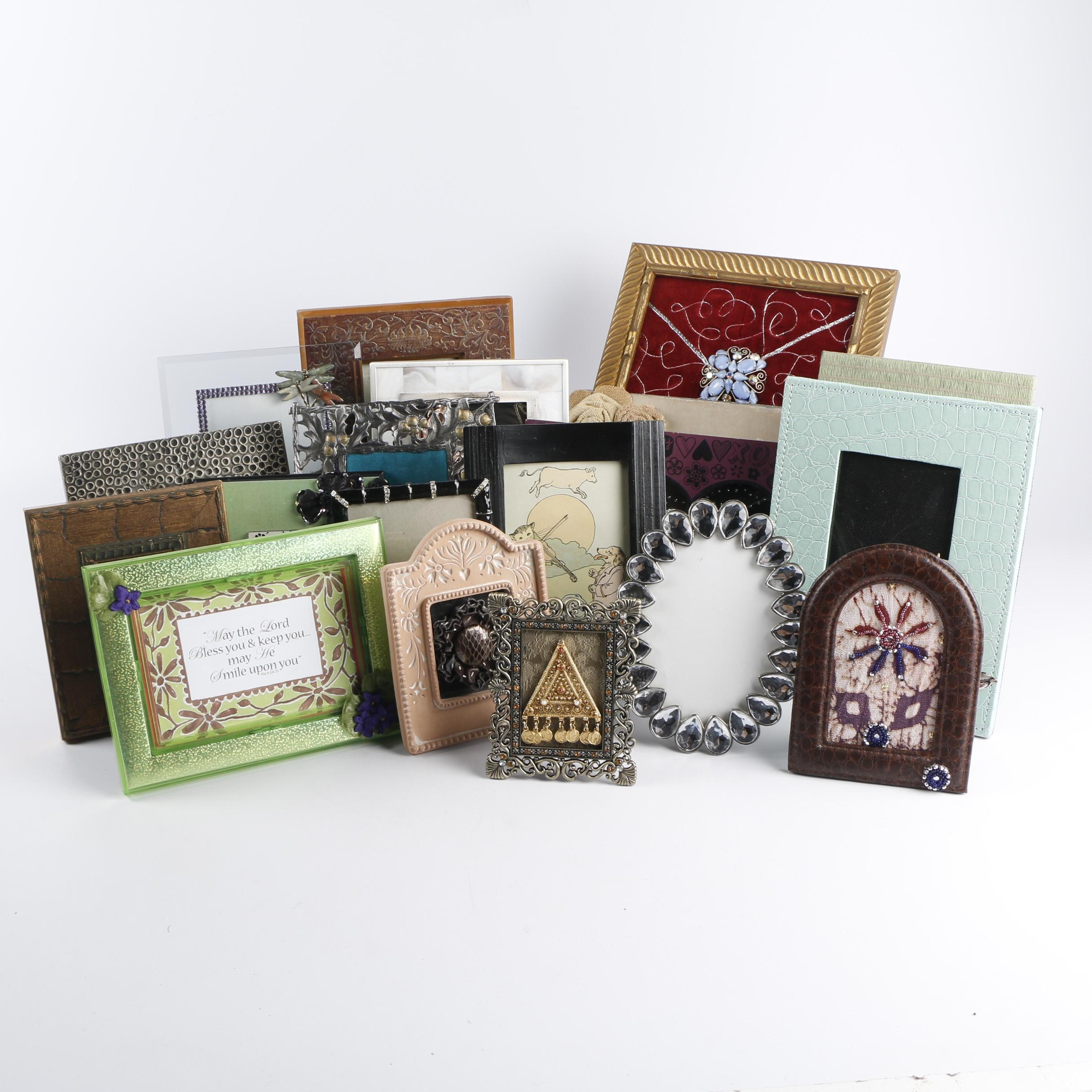 Decorative Picture Frames with Fabric, Beading and Other Décor