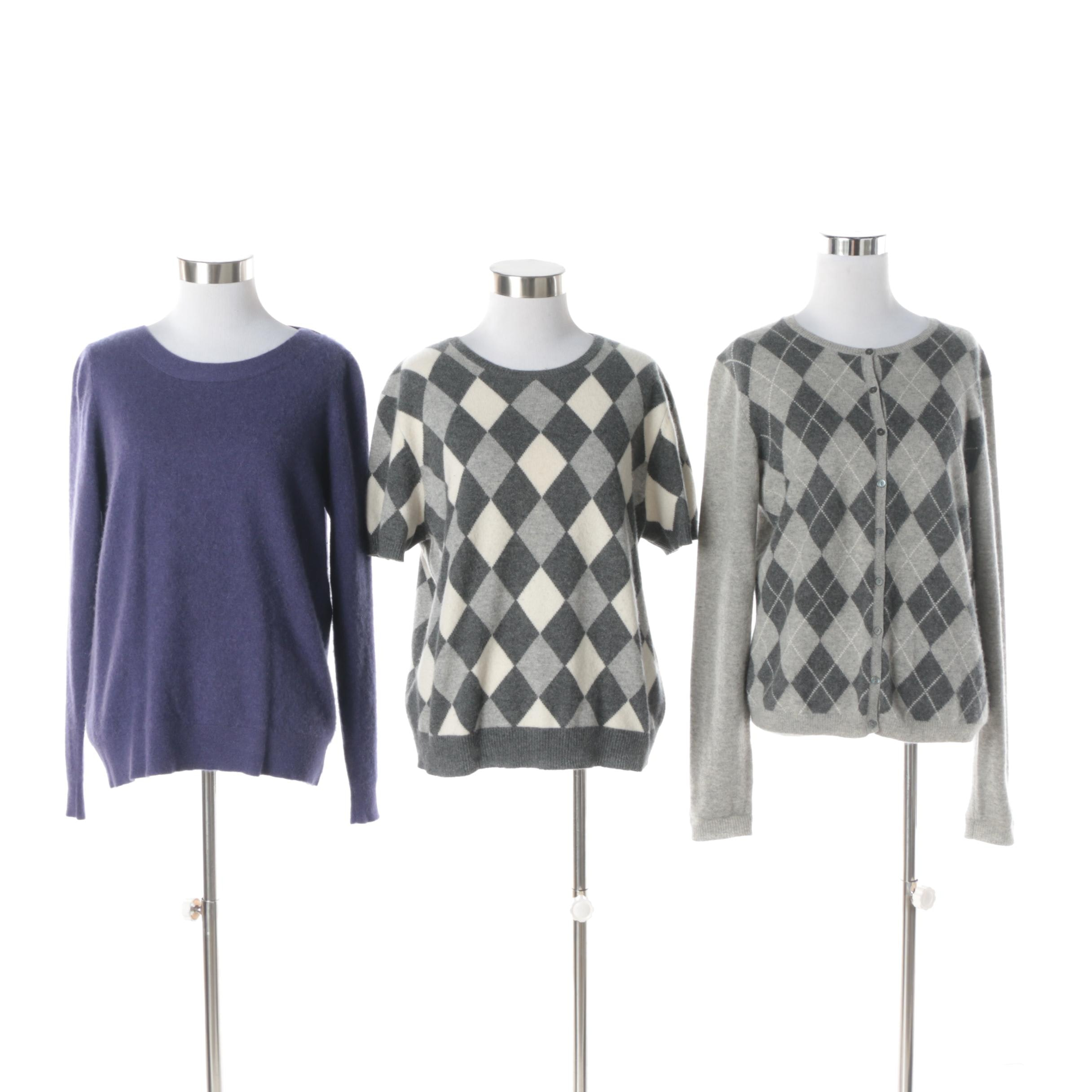 Women's Elena Solano and Lord & Taylor Cashmere Sweaters and Cardigan