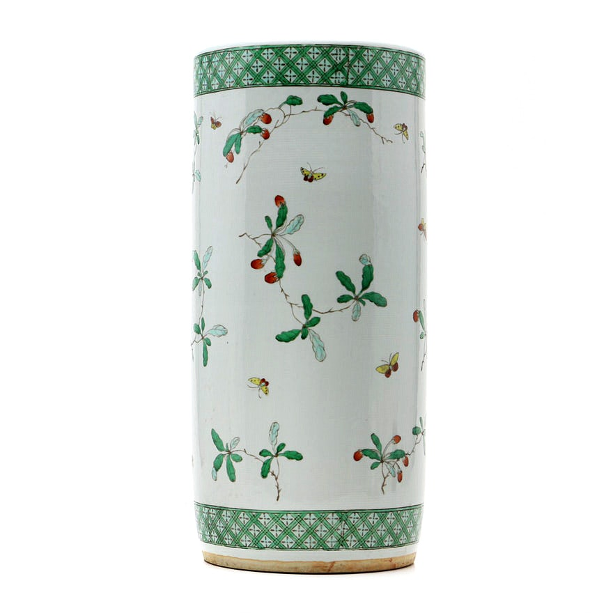 Mottahedeh Museum Reproduction Kangxi Famille Verte Umbrella Stand
