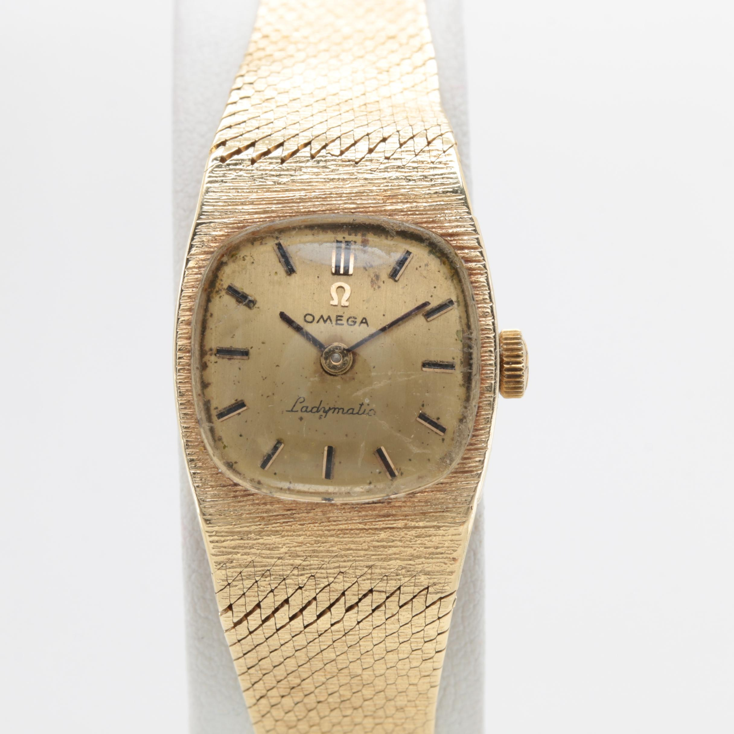 "Omega ""Ladymatic"" 14K Yellow Gold Wristwatch"