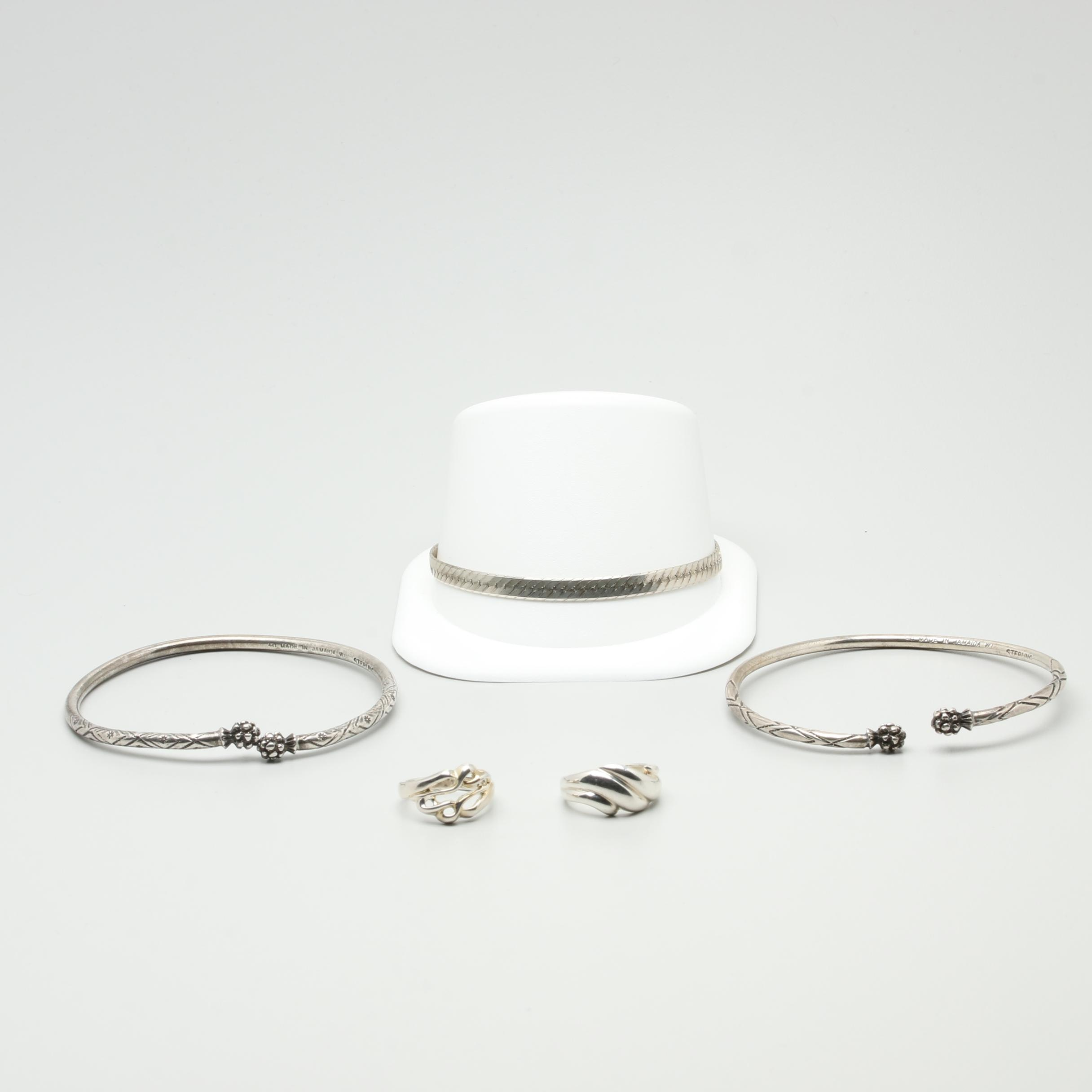 Sterling Silver Bracelets and Rings