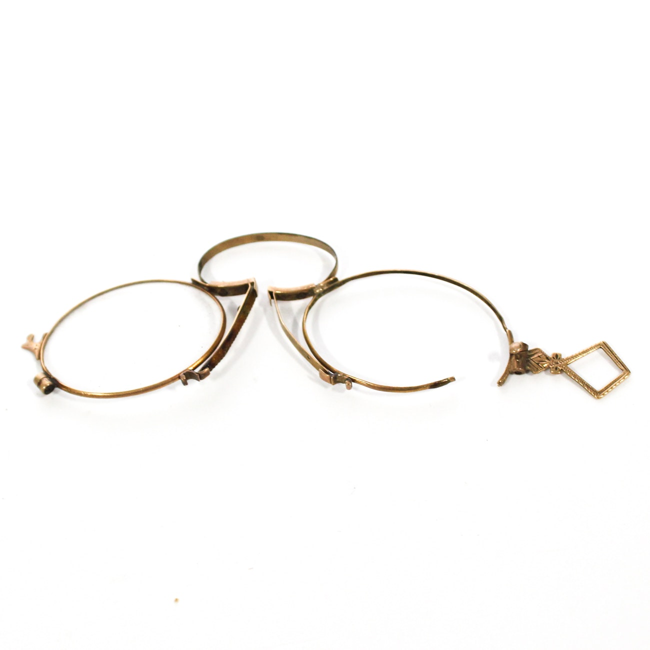 Pair of Victorian Pince Nez and Case, Late 19th Century