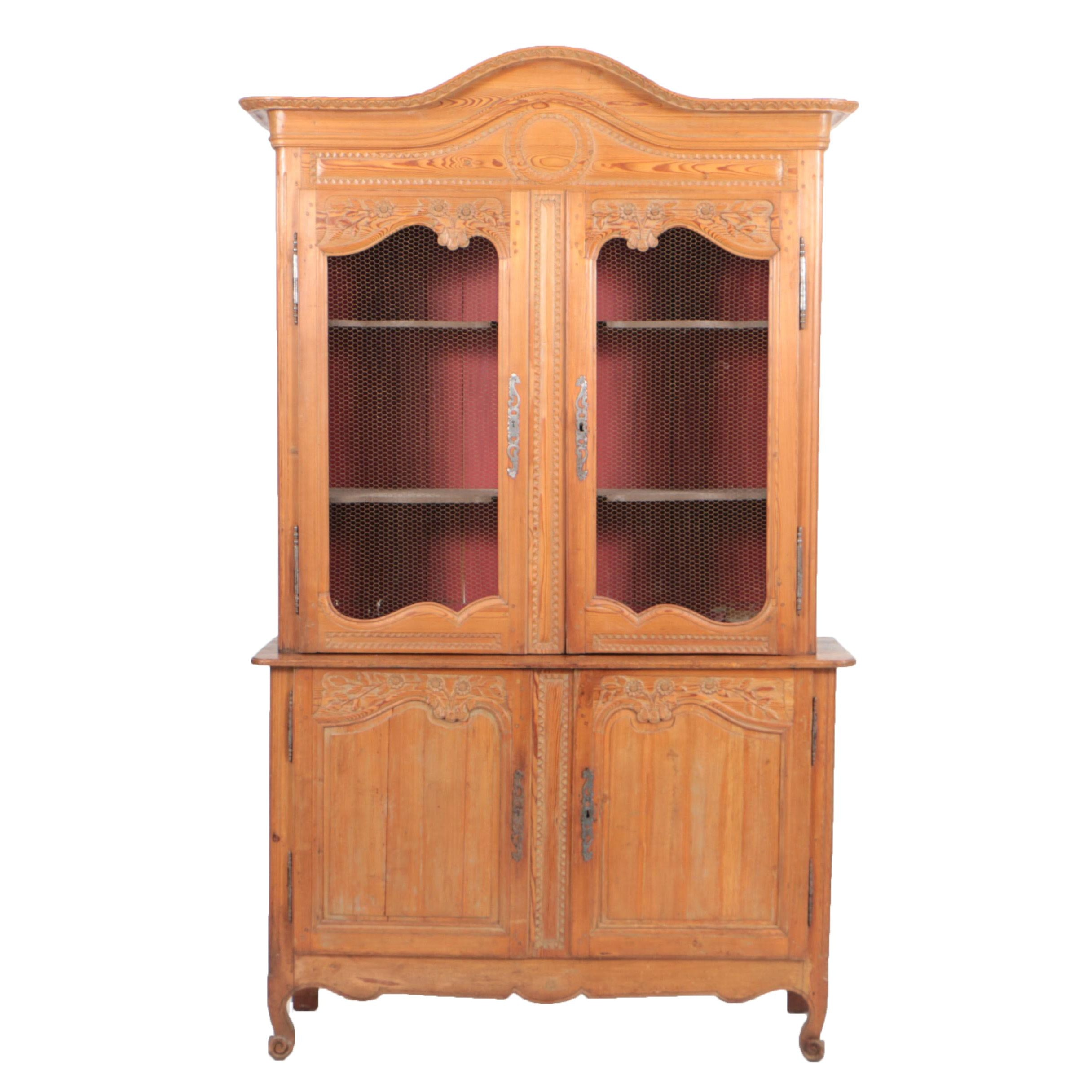 19th Century French Provincial Pine Cupboard