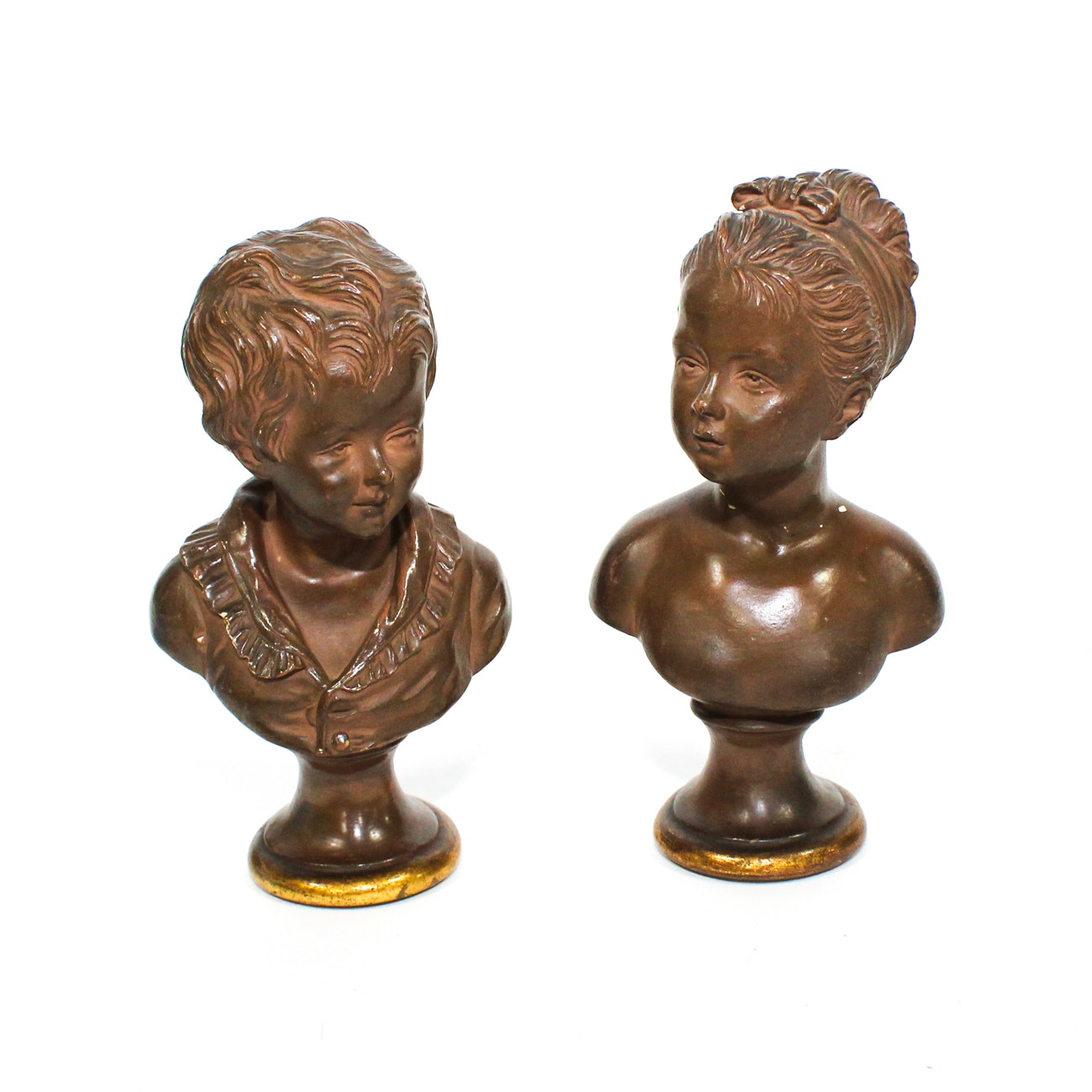 Two Terracotta Busts, After Jean-Antoine Houdon, 20th Century