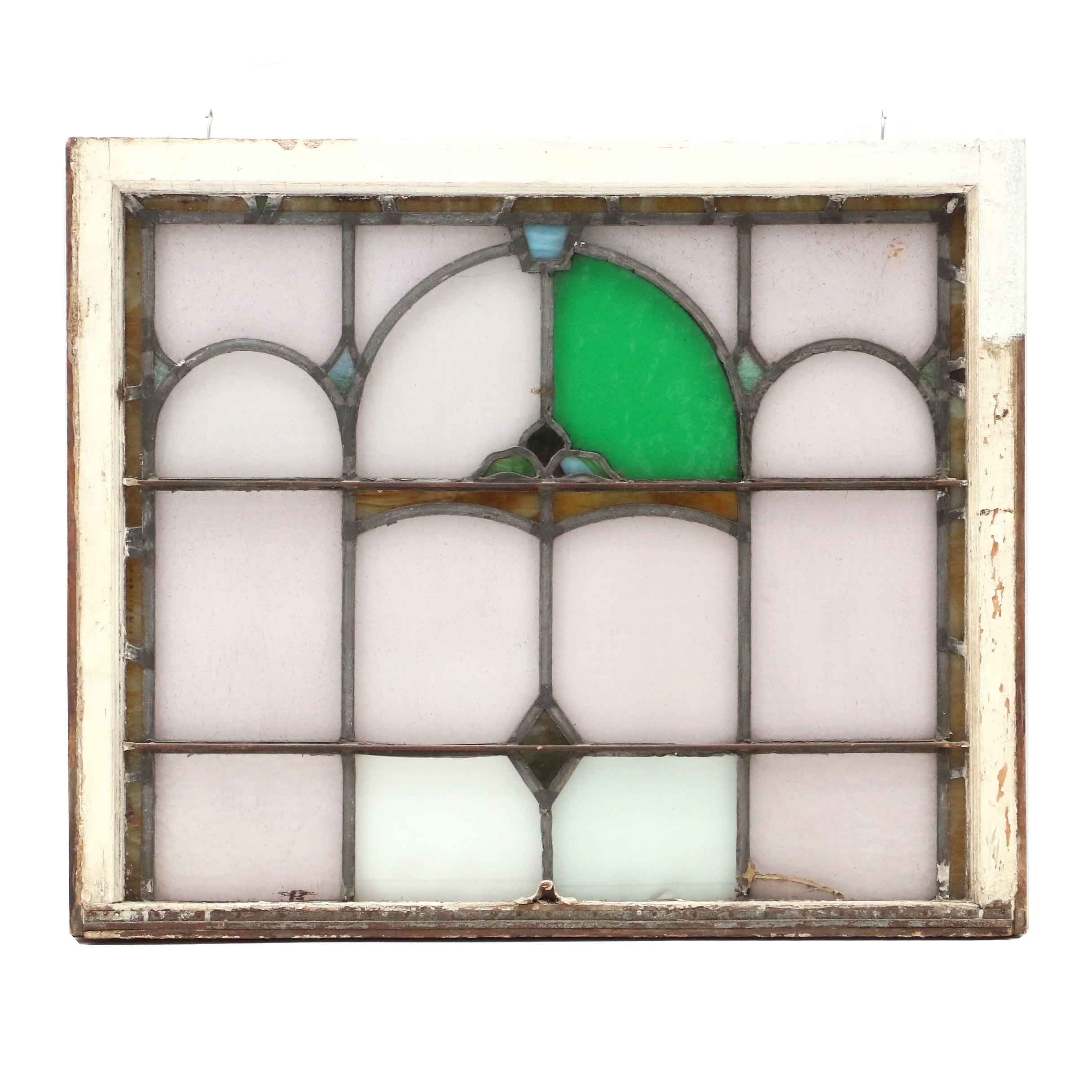 Vintage Stained Glass Window Pane