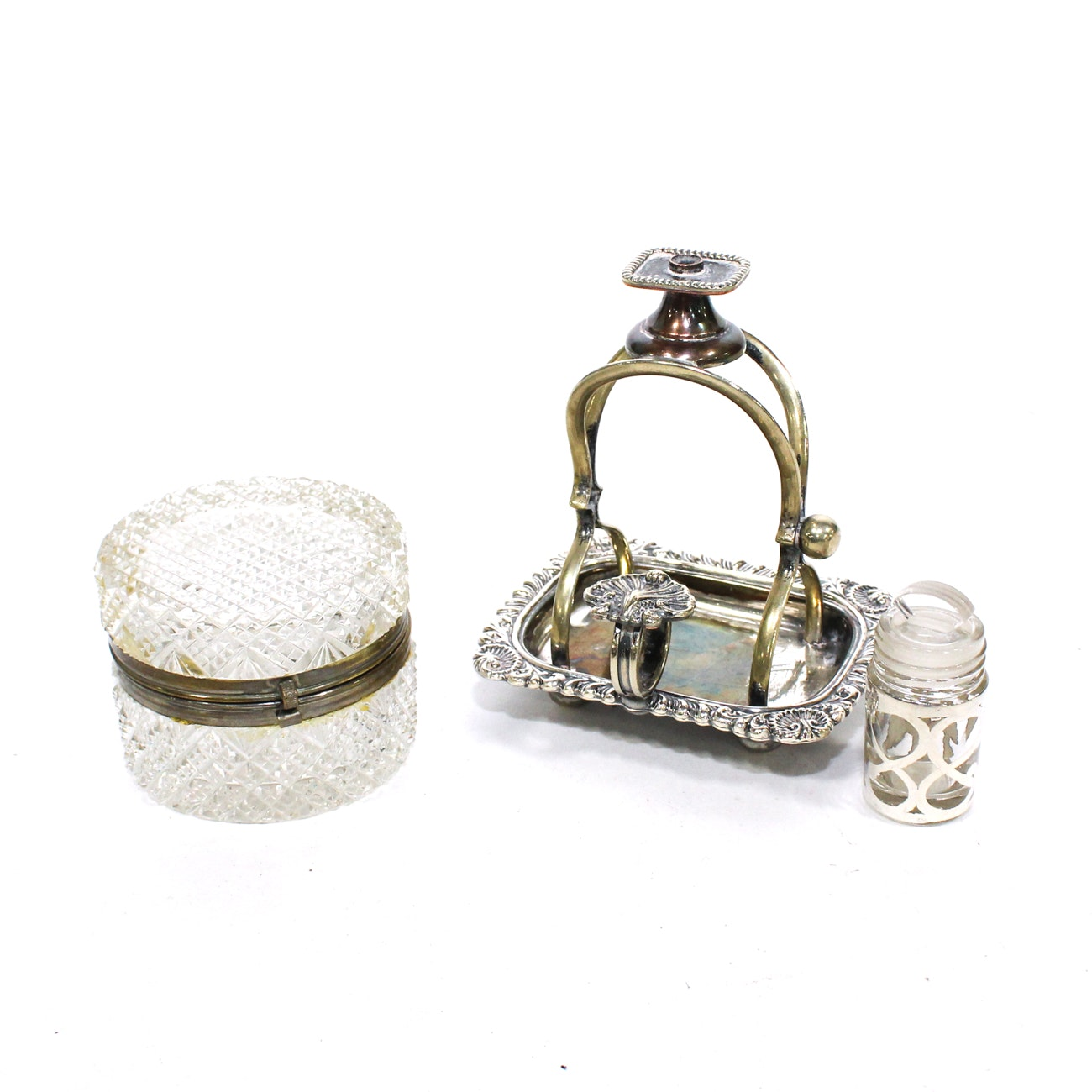 Victorian Silver Plate Wax Jack, Mid-19th Century