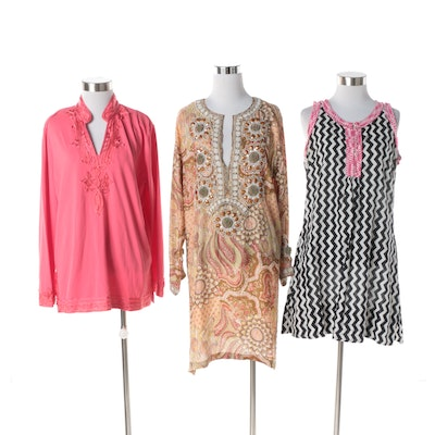 783edba8cc1f Akbar Delights and Gretchen Scott Dresses with Pink Brand Soutache Tunic