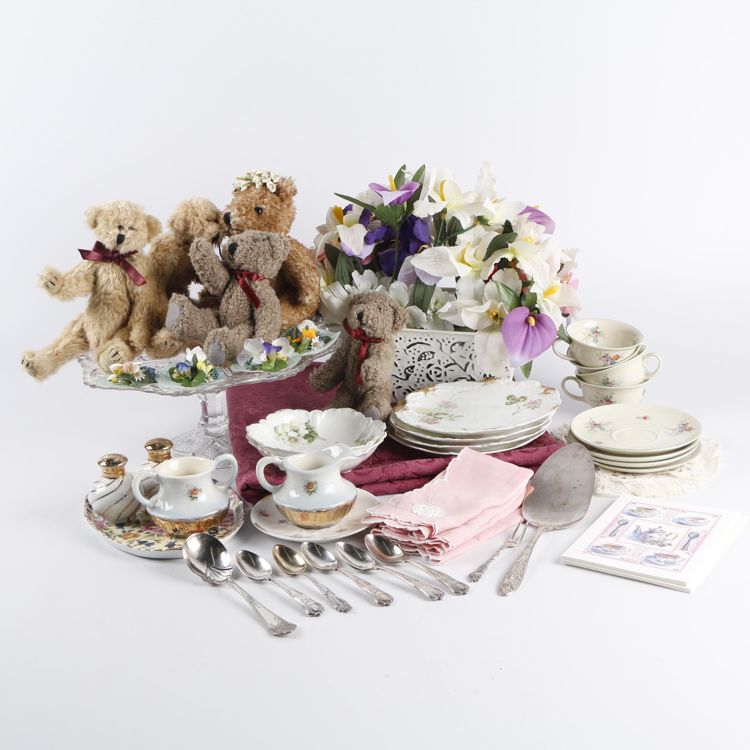 Vintage Bone China and Porcelain Tableware featuring Rosenthal with Teddy Bears