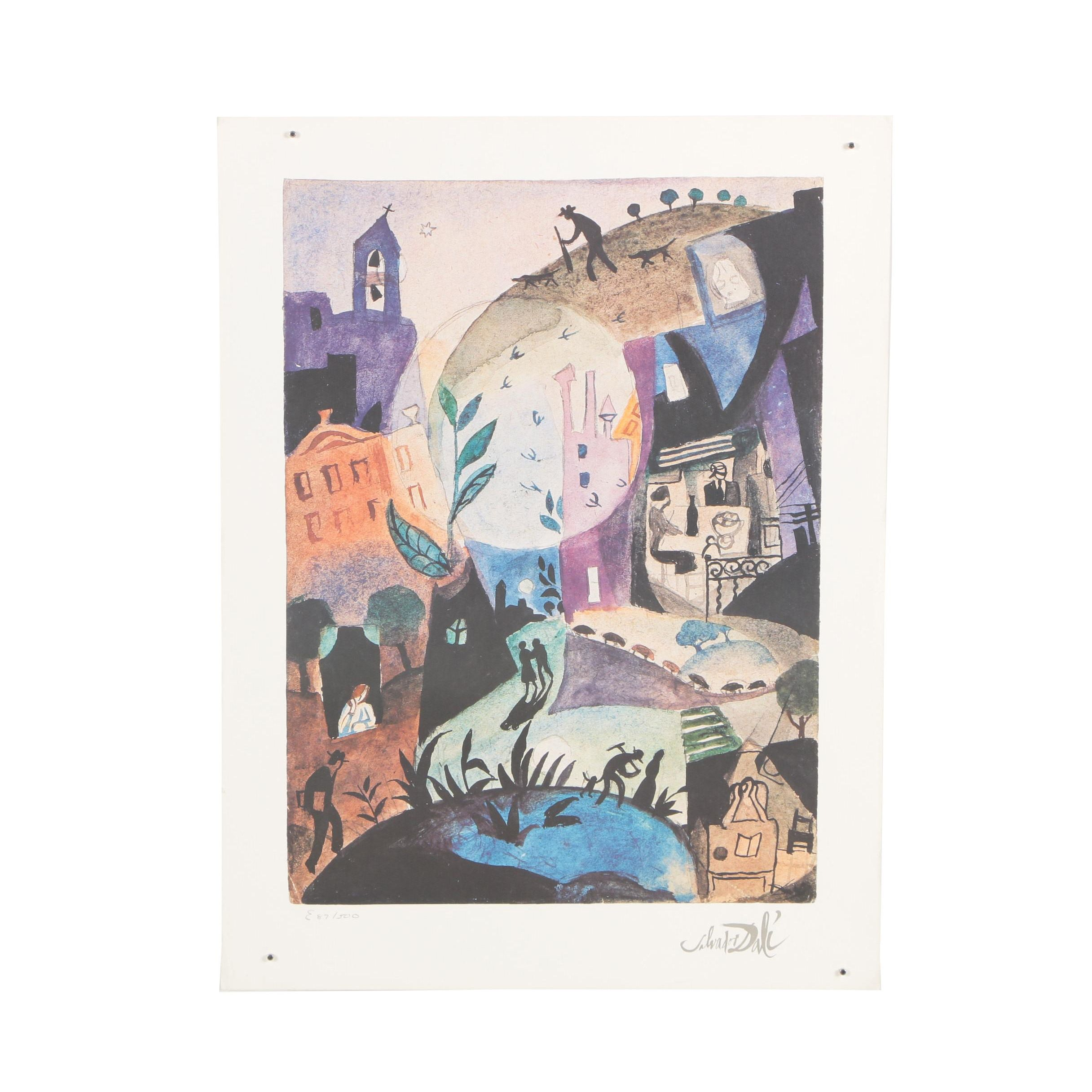 "Limited Edition Offset Lithograph after Salvador Dalí ""The First Days of Spring"""