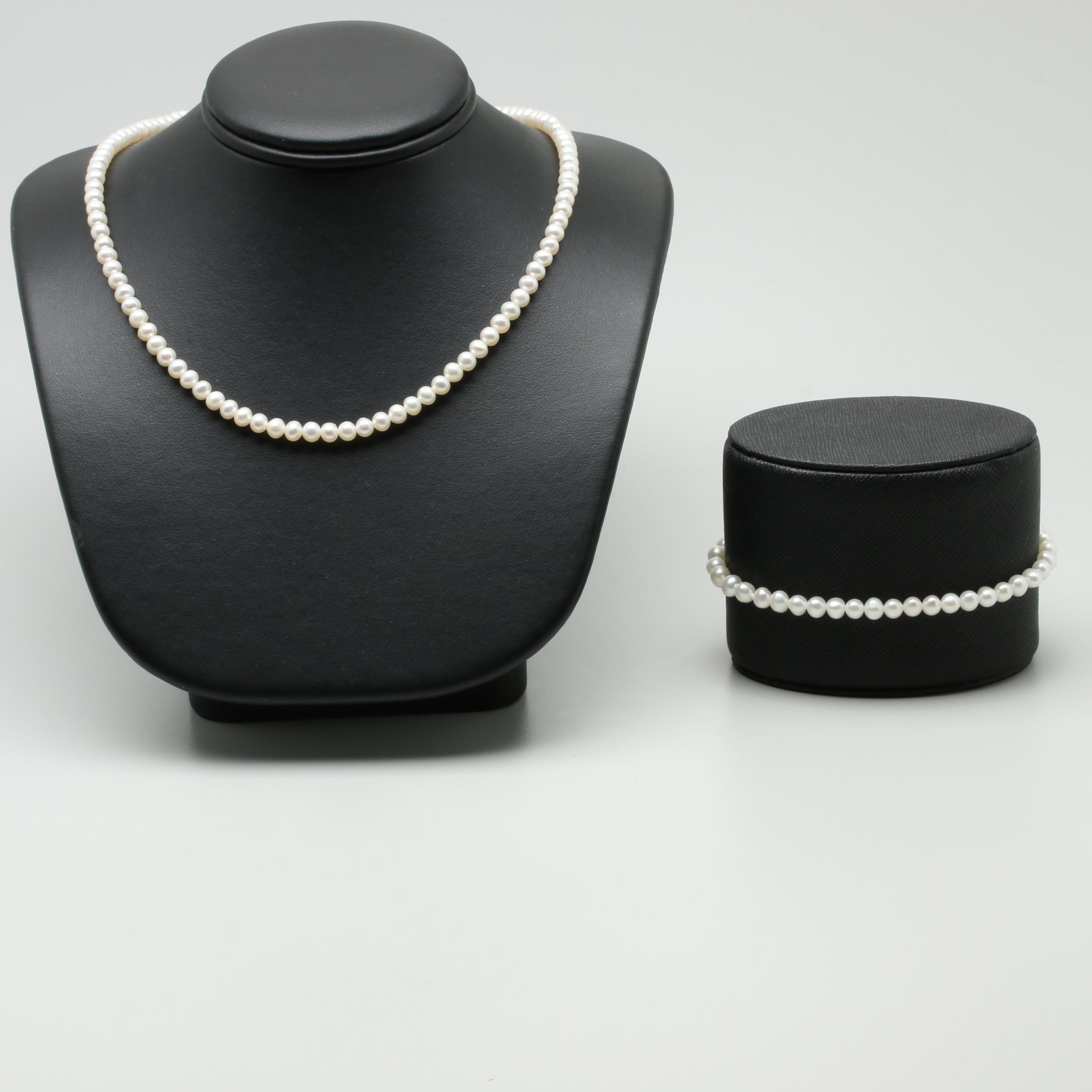 14K Yellow Gold Cultured Pearl Demi Parure
