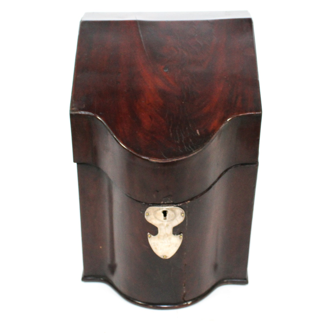 George III Mahogany Knife Box With Armorial Escutcheon