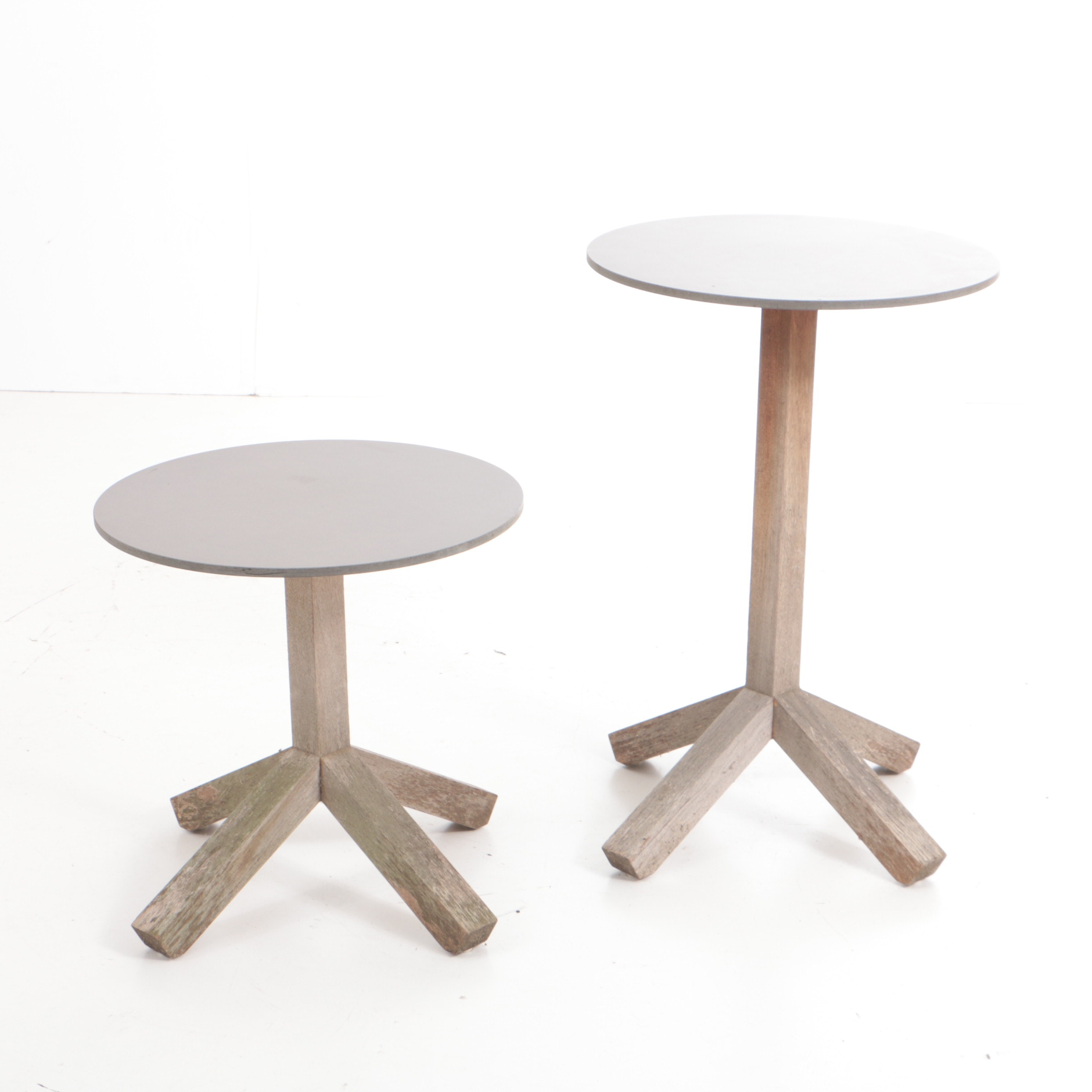 "Two Teak ""Roda Root"" Accent Tables Designed by Rodolfo Dordoni"