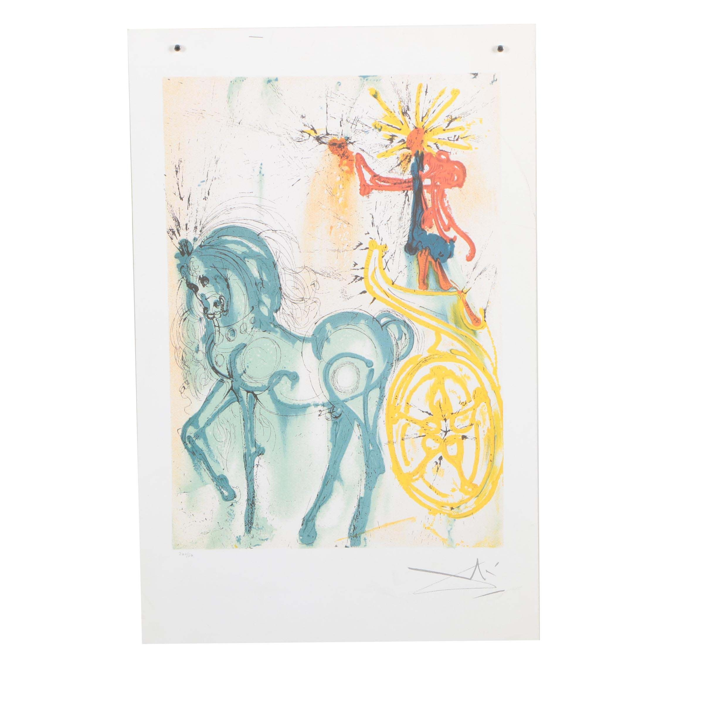 "Limited Edition Offset Lithograph after Salvador Dalí ""Le Cheval de Triomphe"""