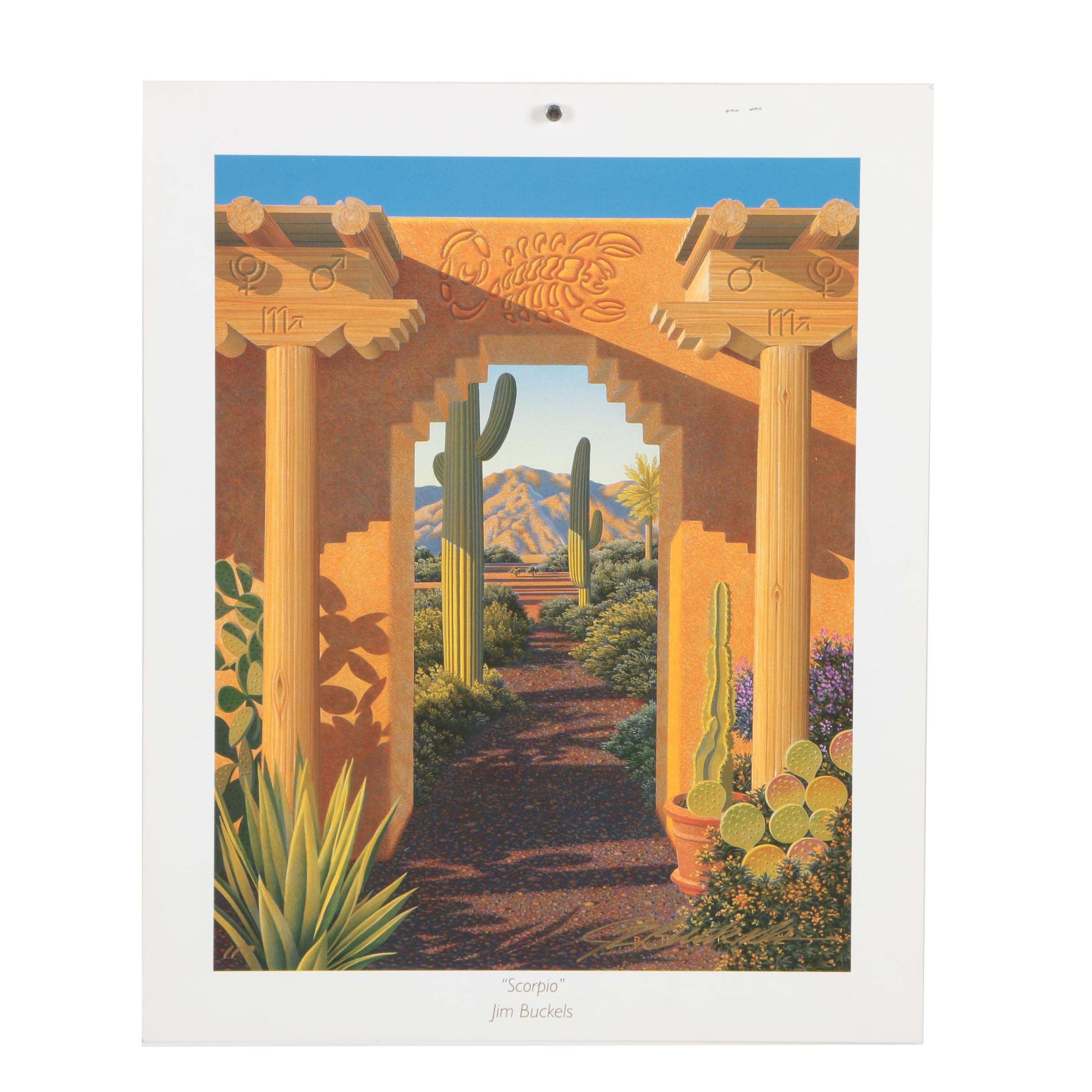 "Jim Buckels Limited Edition Offset Lithograph ""Scorpio"""