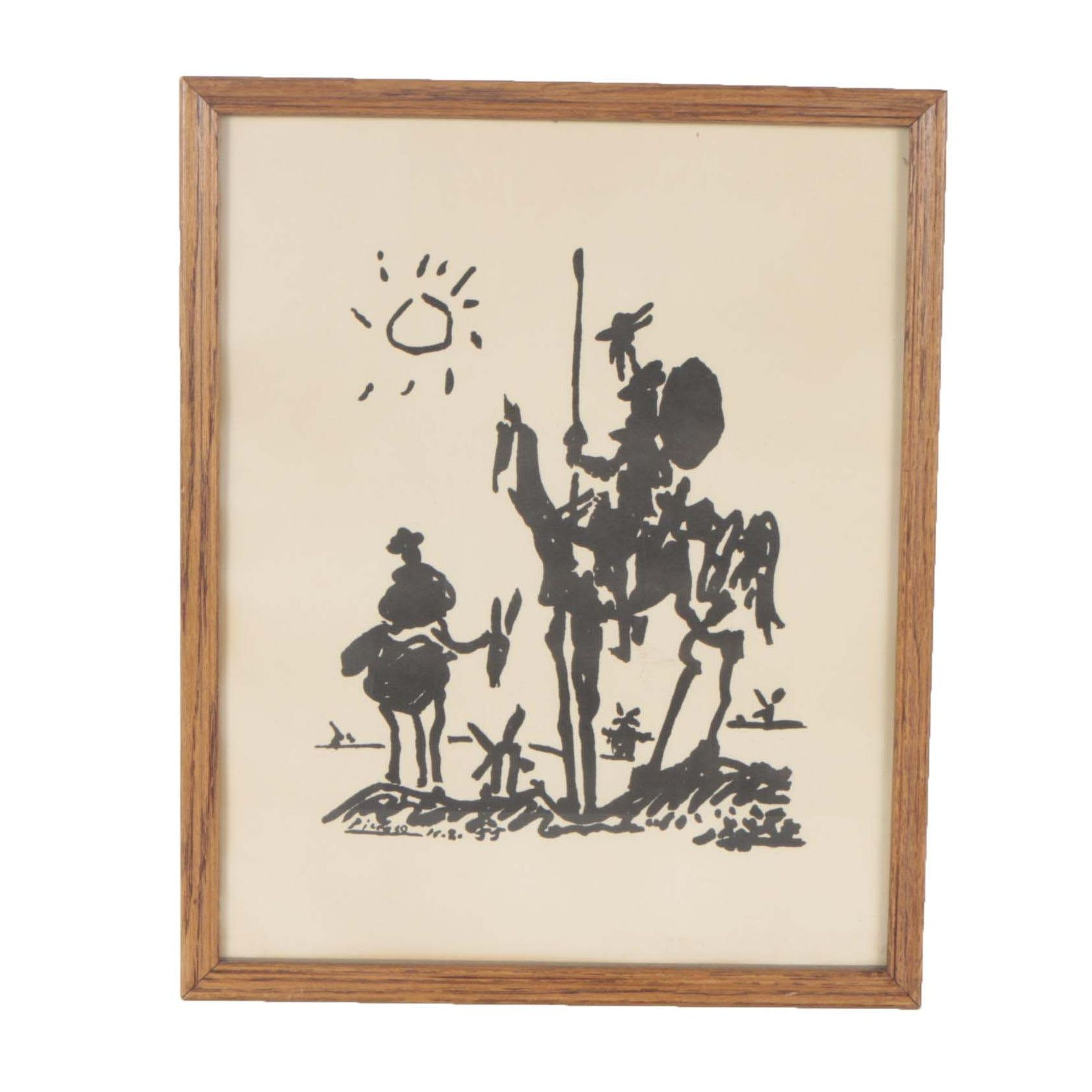 "Lithograph After Pablo Picasso ""Don Quixote"""