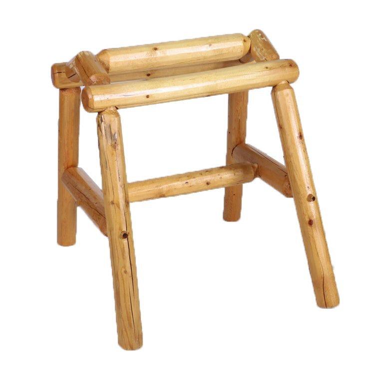 Handcrafted Pine Log Saddle Stand