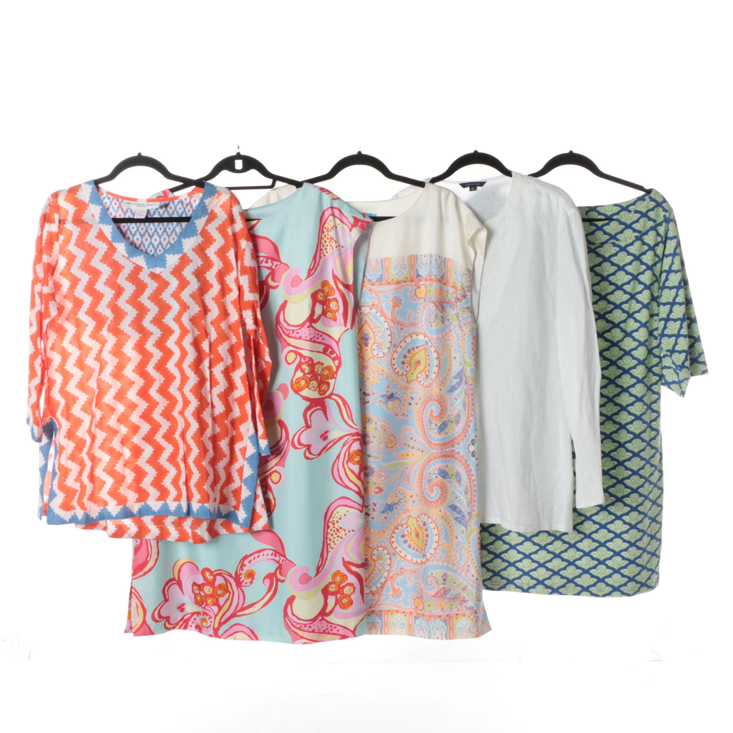 Women's Tunics and Dresses Including J. McLaughlin and Lands' End