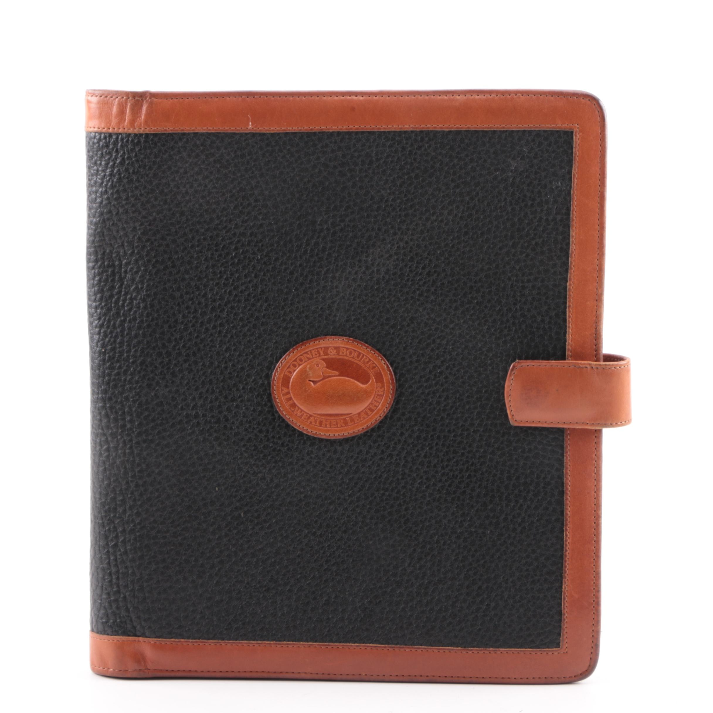 Dooney & Bourke All-Weather Leather Navy Blue and Tan Portfolio